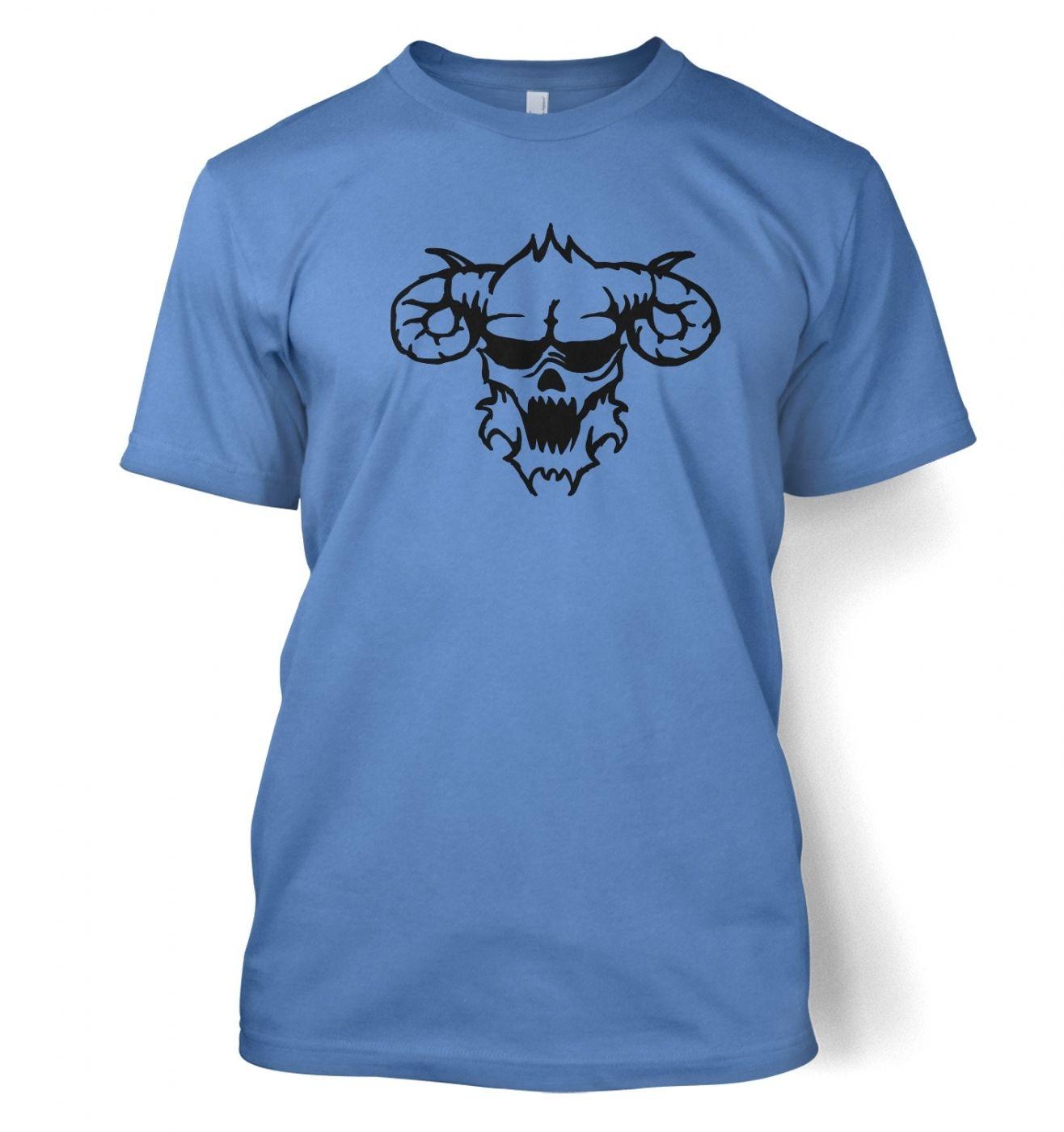 Black Outline Demon's Head men's t-shirt