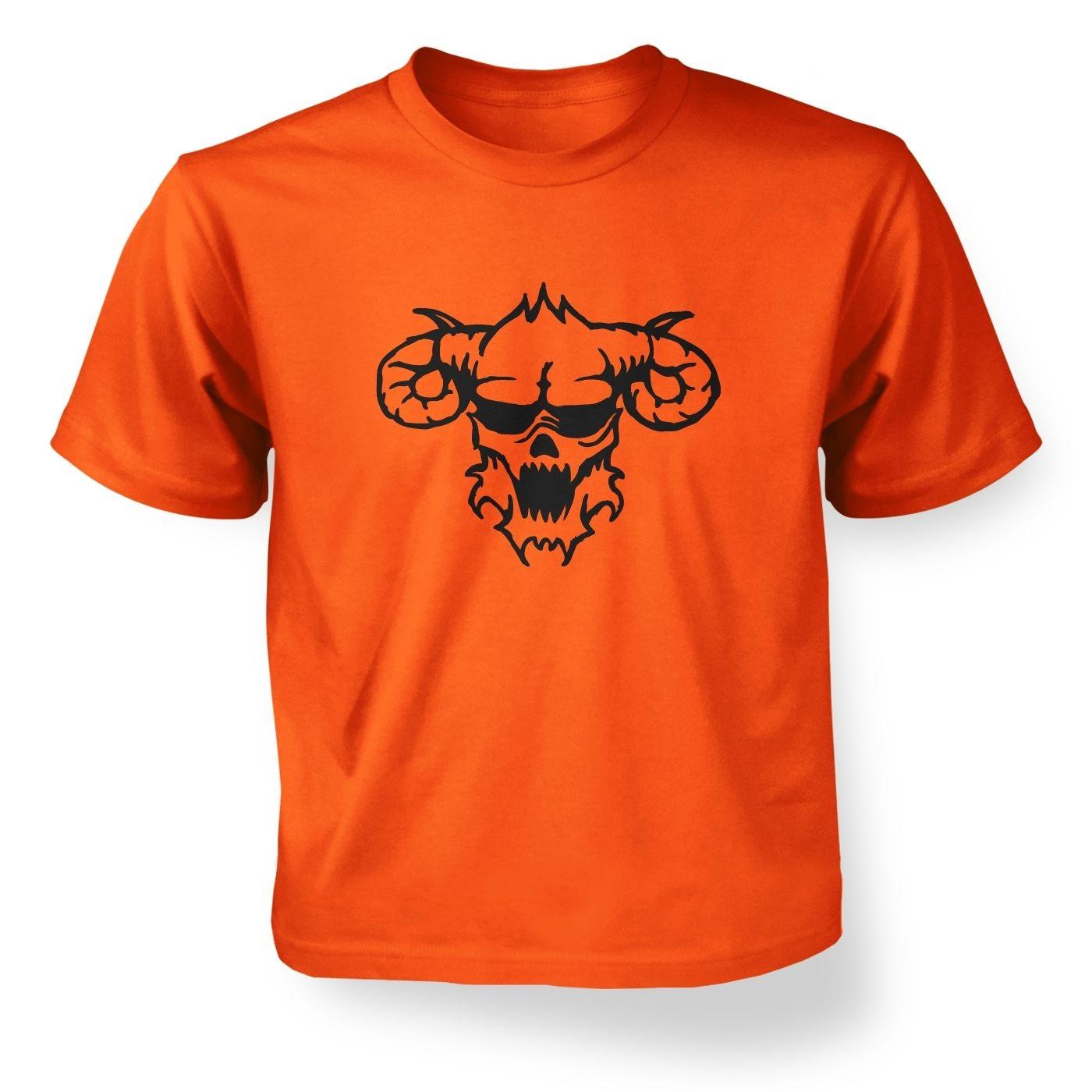 Black Outline Demon's Head kids' t-shirt