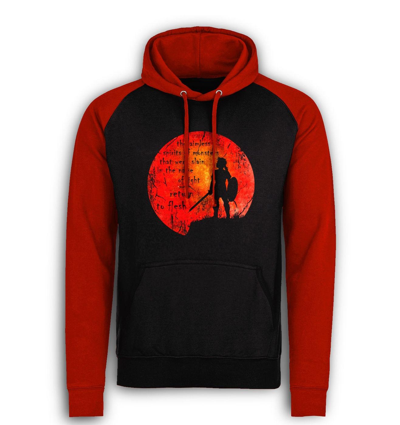 Blood Moon baseball hoodie by Something Geeky