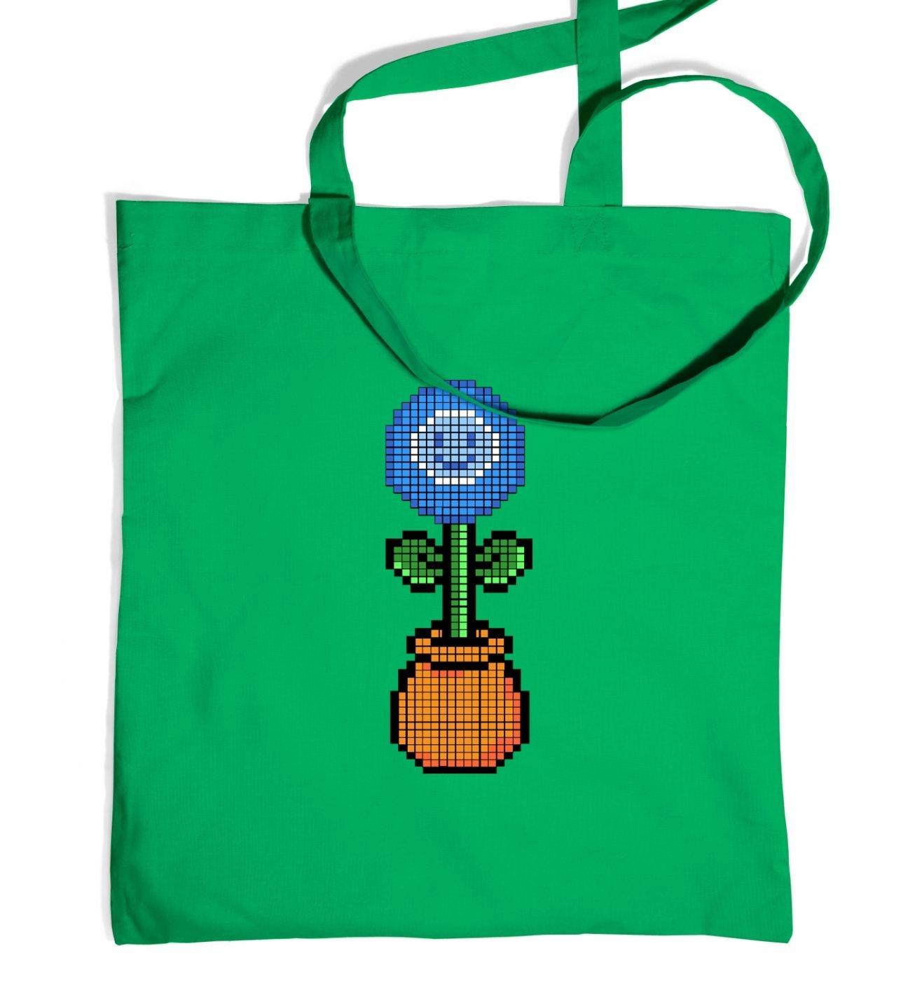 Blue Flower 8-Bit tote bag