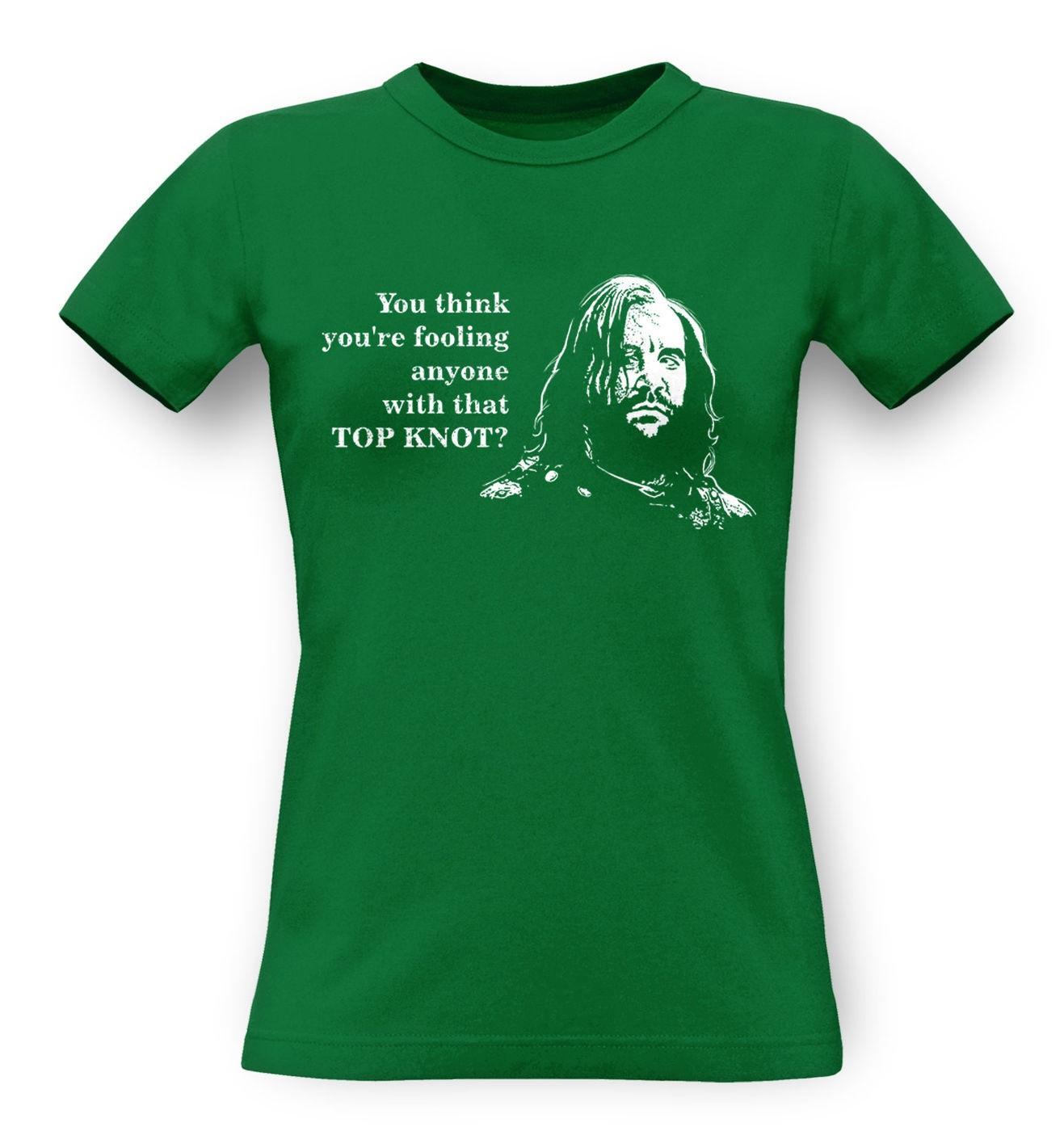 Boycott Top Knot classic womens t-shirt by Something Geeky