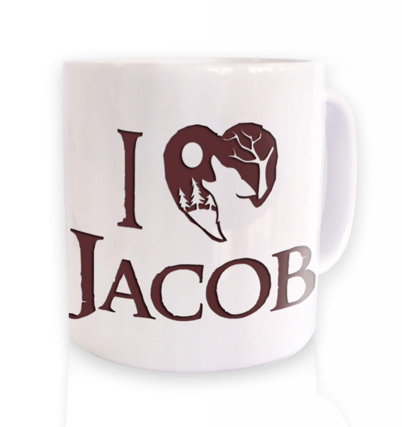 I Heart Jacob (brown) ceramic coffee mug