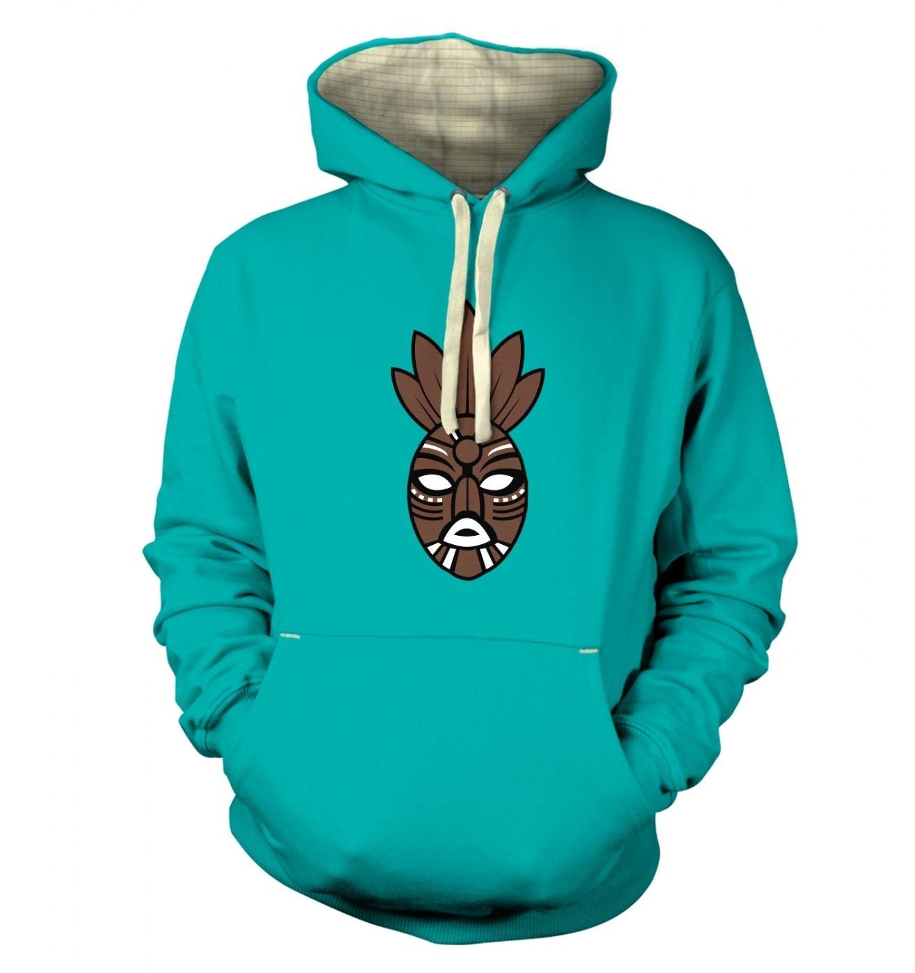 Brown Tribal Mask premium hoodie
