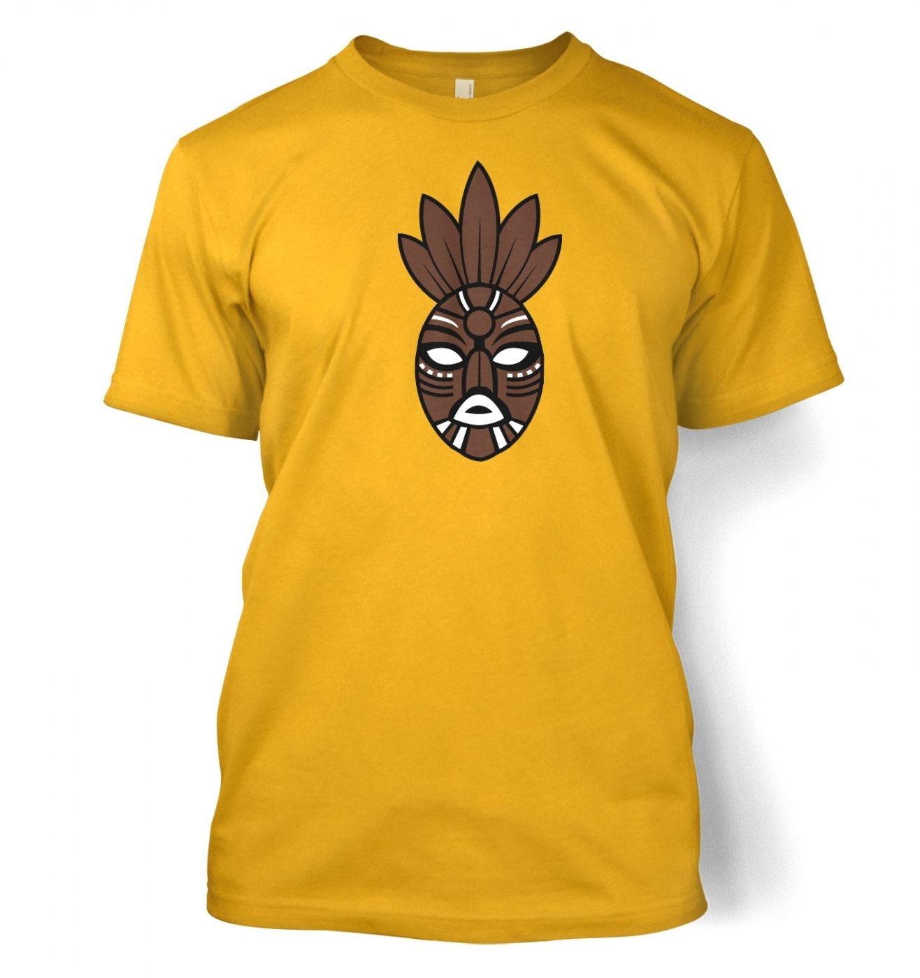Brown Tribal Mask men's t-shirt