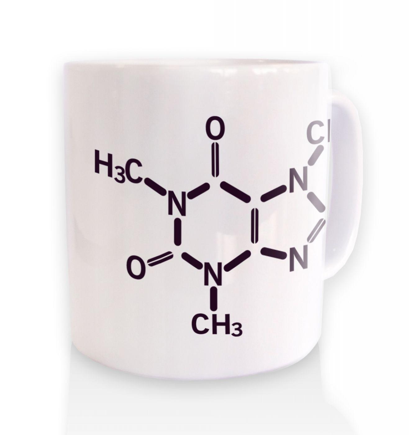 Caffeine Molecule ceramic coffee mug