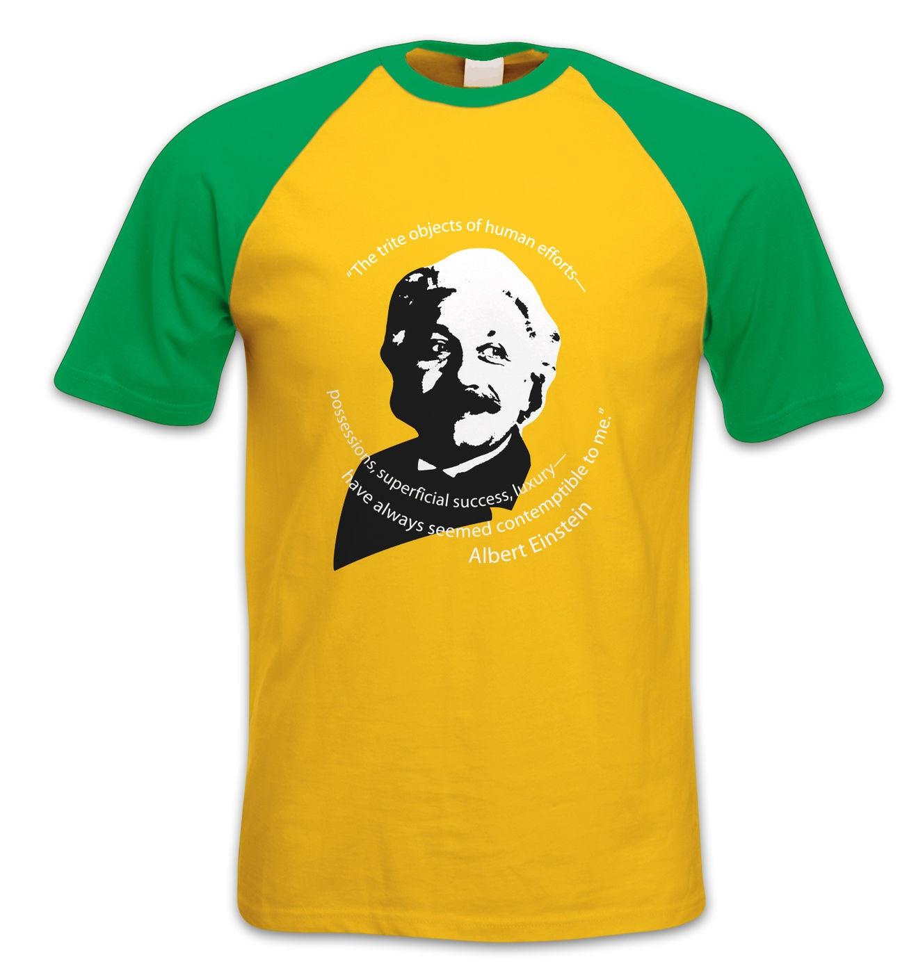 Capitalism Quote Einstein short-sleeved baseball t-shirt