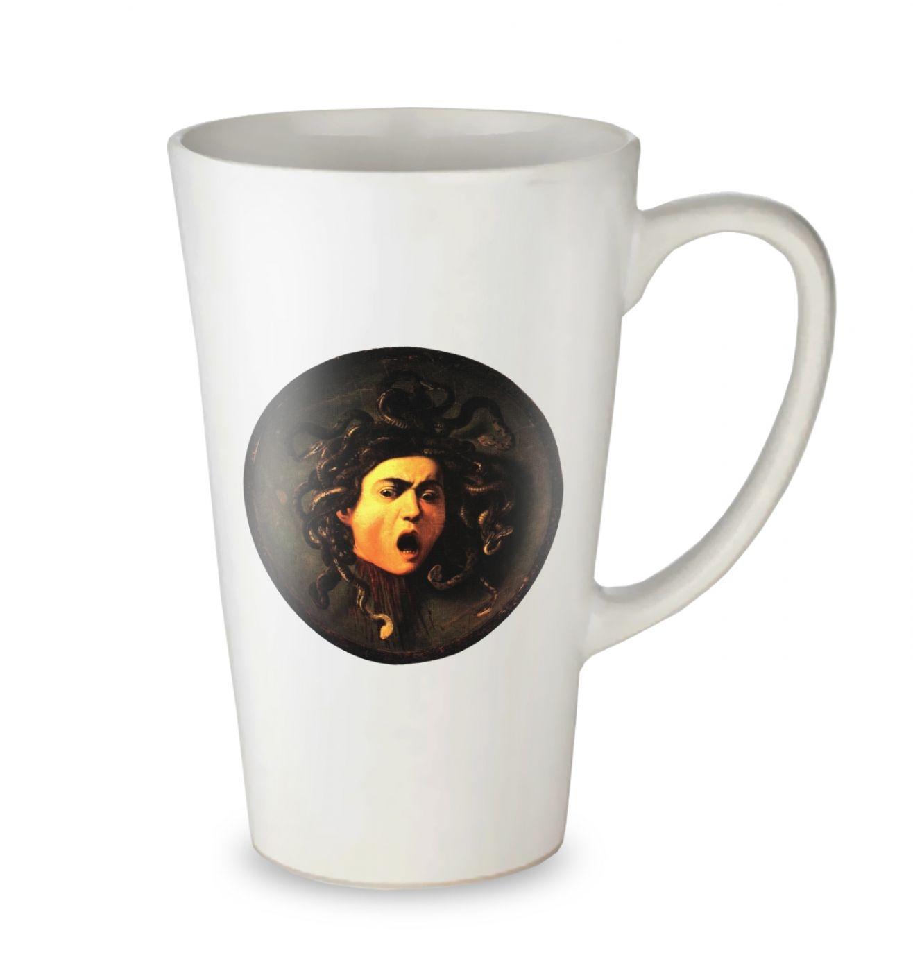 Caravaggio Medusa tall latte mug
