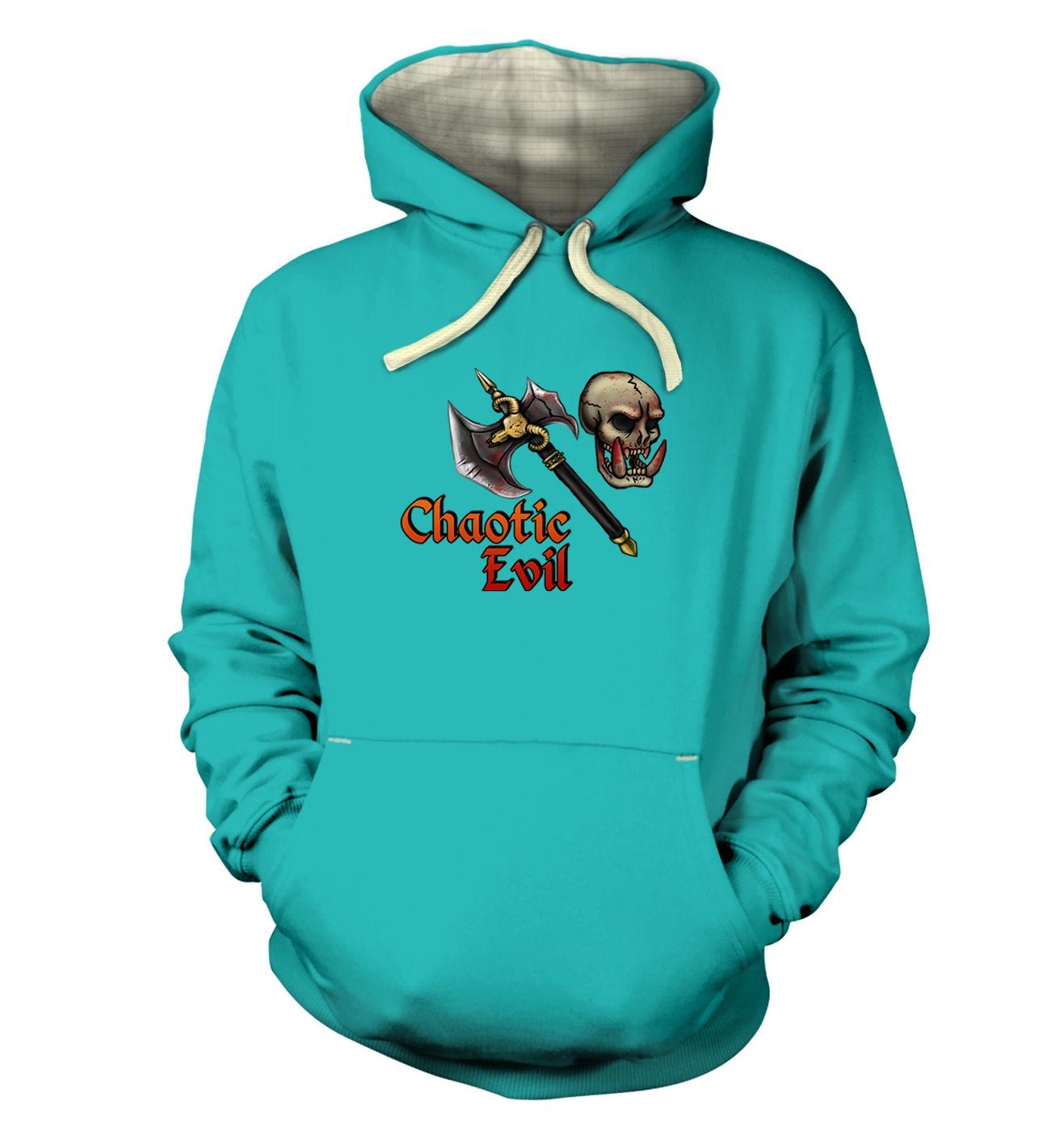 Cartoon Alignment Chaotic Evil - premium gaming hoodies