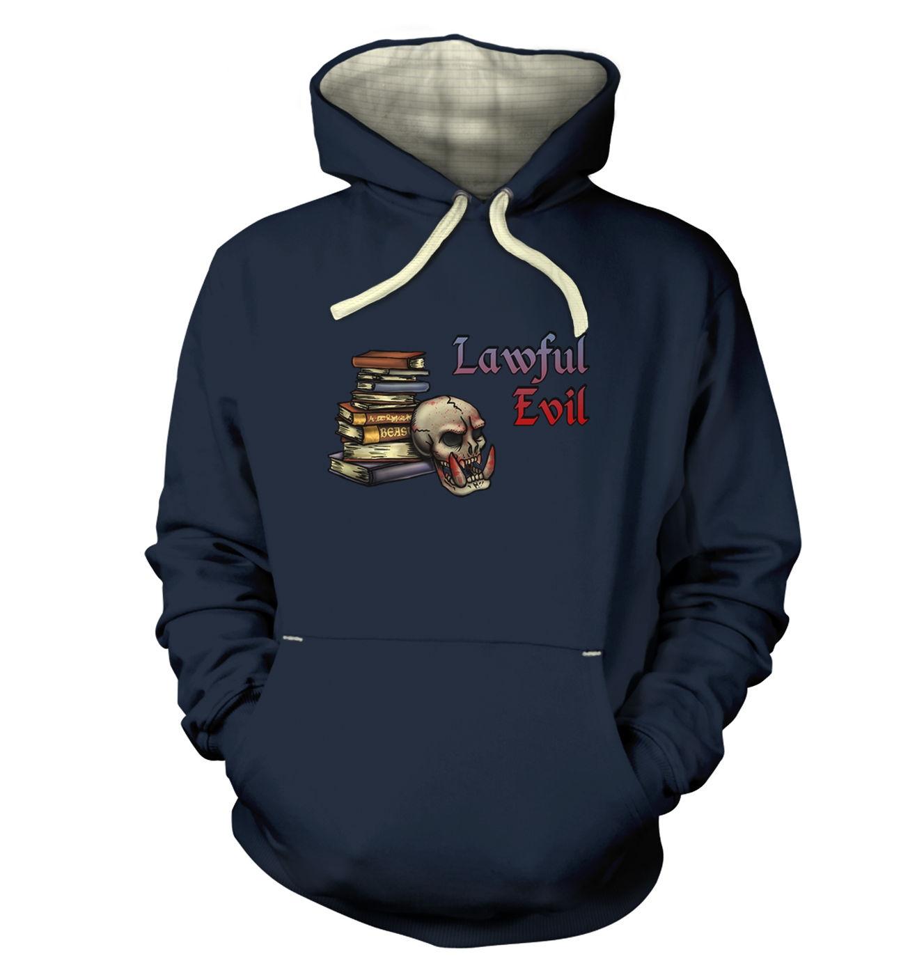 Cartoon Alignment Lawful Evil - premium adult gaming hoodies