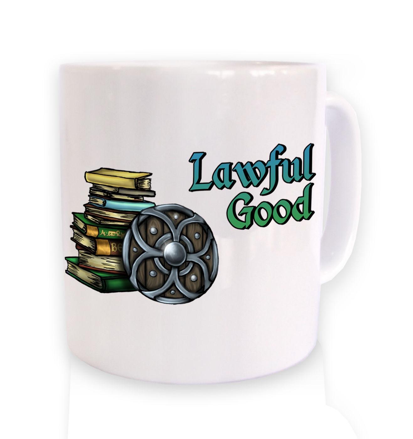 Cartoon Alignment Lawful Good ceramic mug