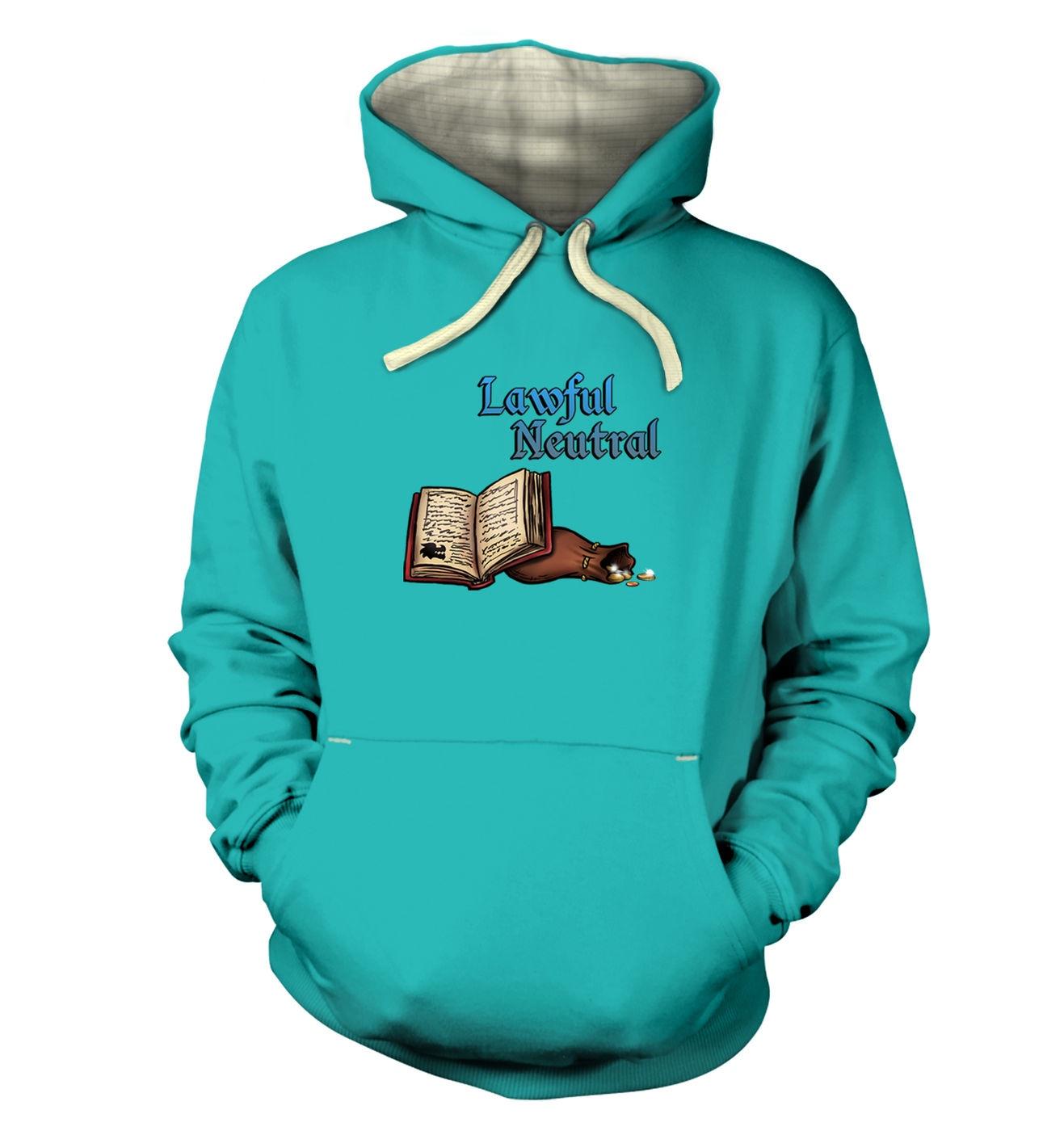 Cartoon Alignment Lawful Neutral hoodie (premium) - gaming hoodies