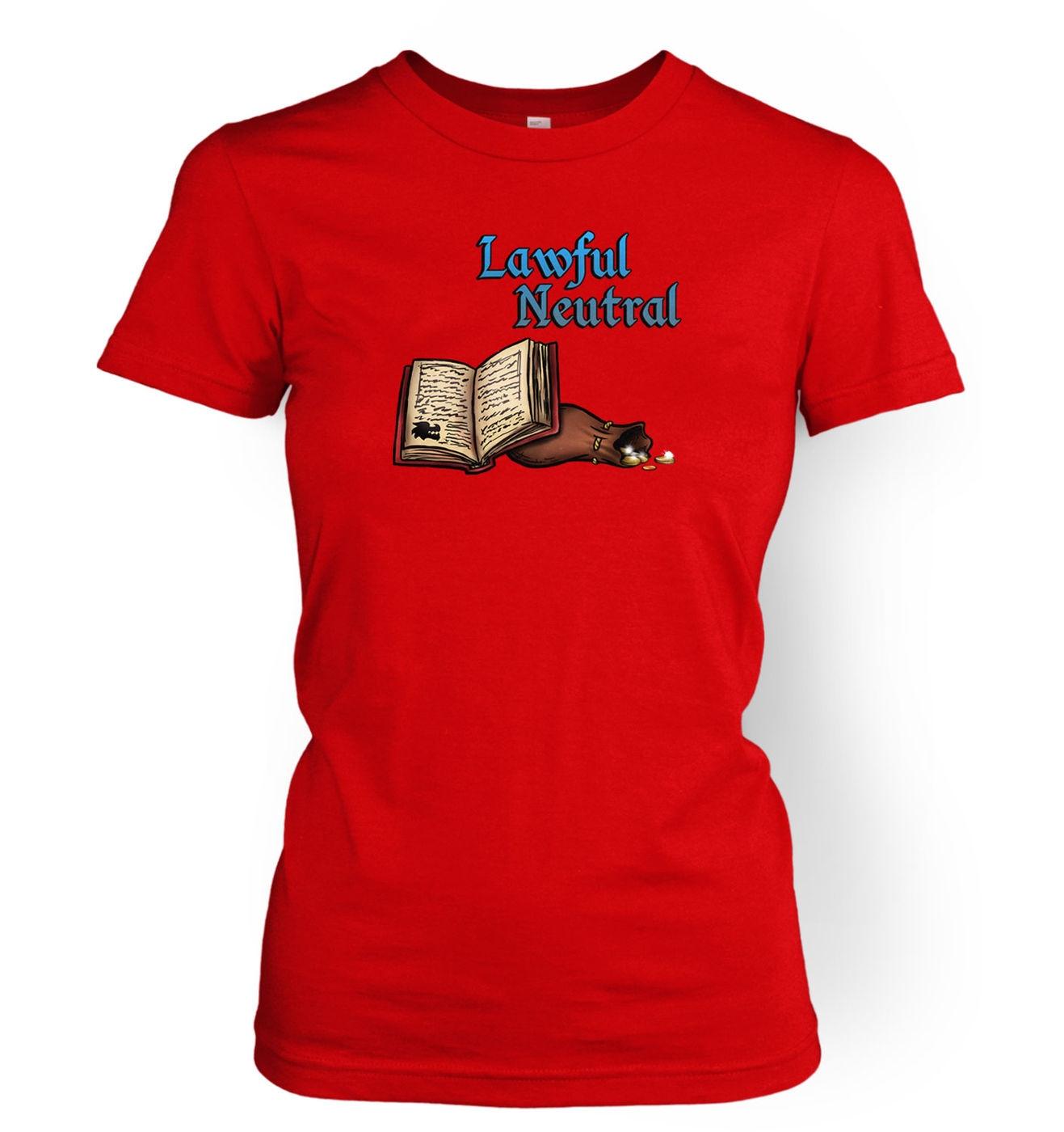 Cartoon Alignment Lawful Neutral womens tee - gaming t-shirts