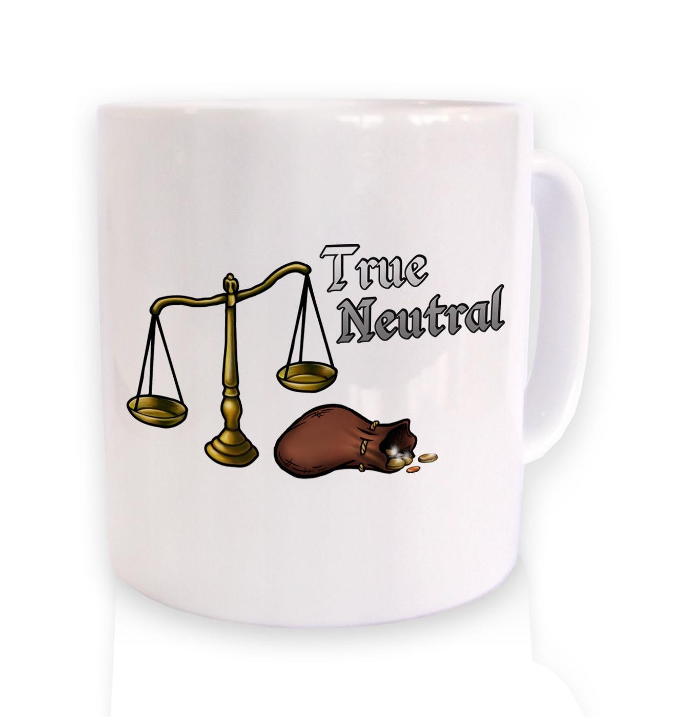 Cartoon Alignment True Neutral ceramic mug