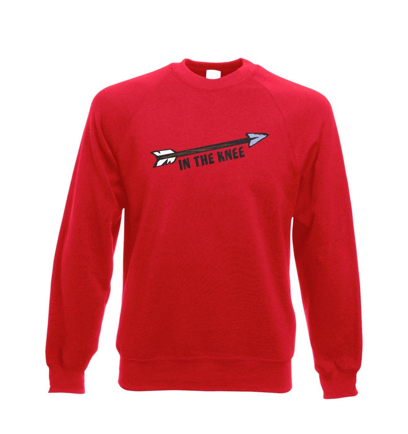 Cartoon Arrow In The Knee crewneck sweatshirt