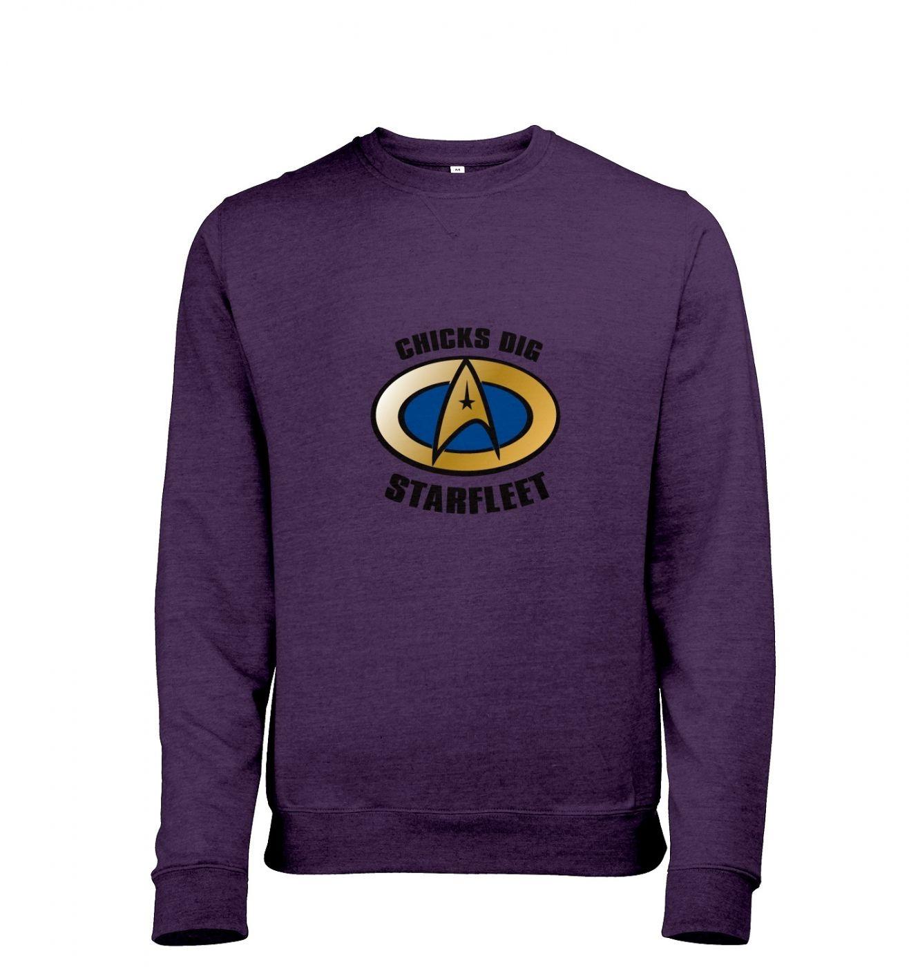 Chicks Dig Starfleet heather sweatshirt