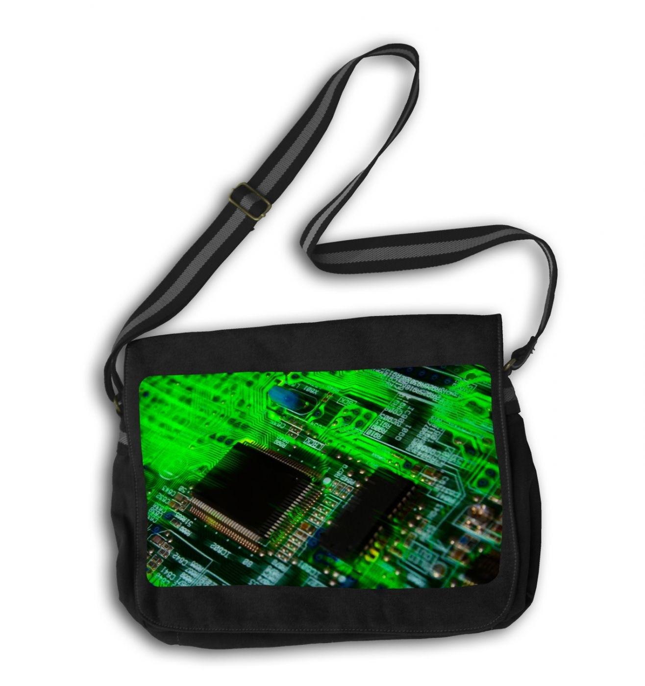 Circuit Board messenger bag - geeky school bag