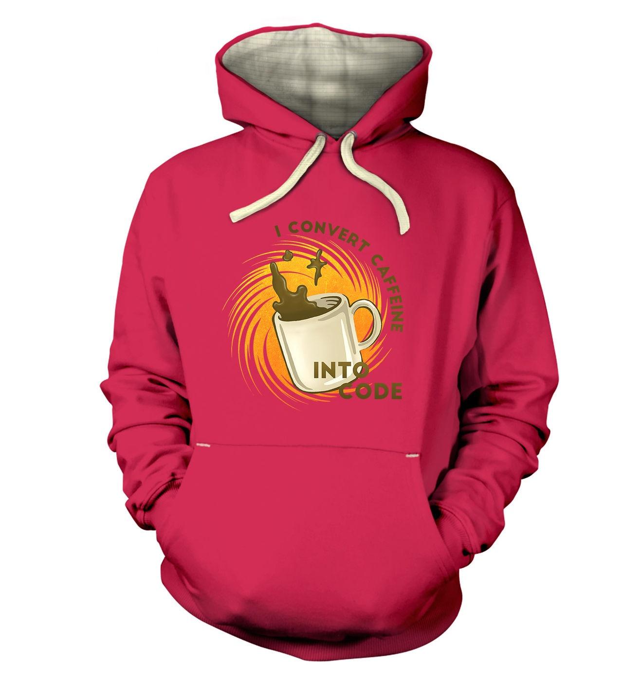 Convert Caffeine Into Code premium hoodie by Something Geeky