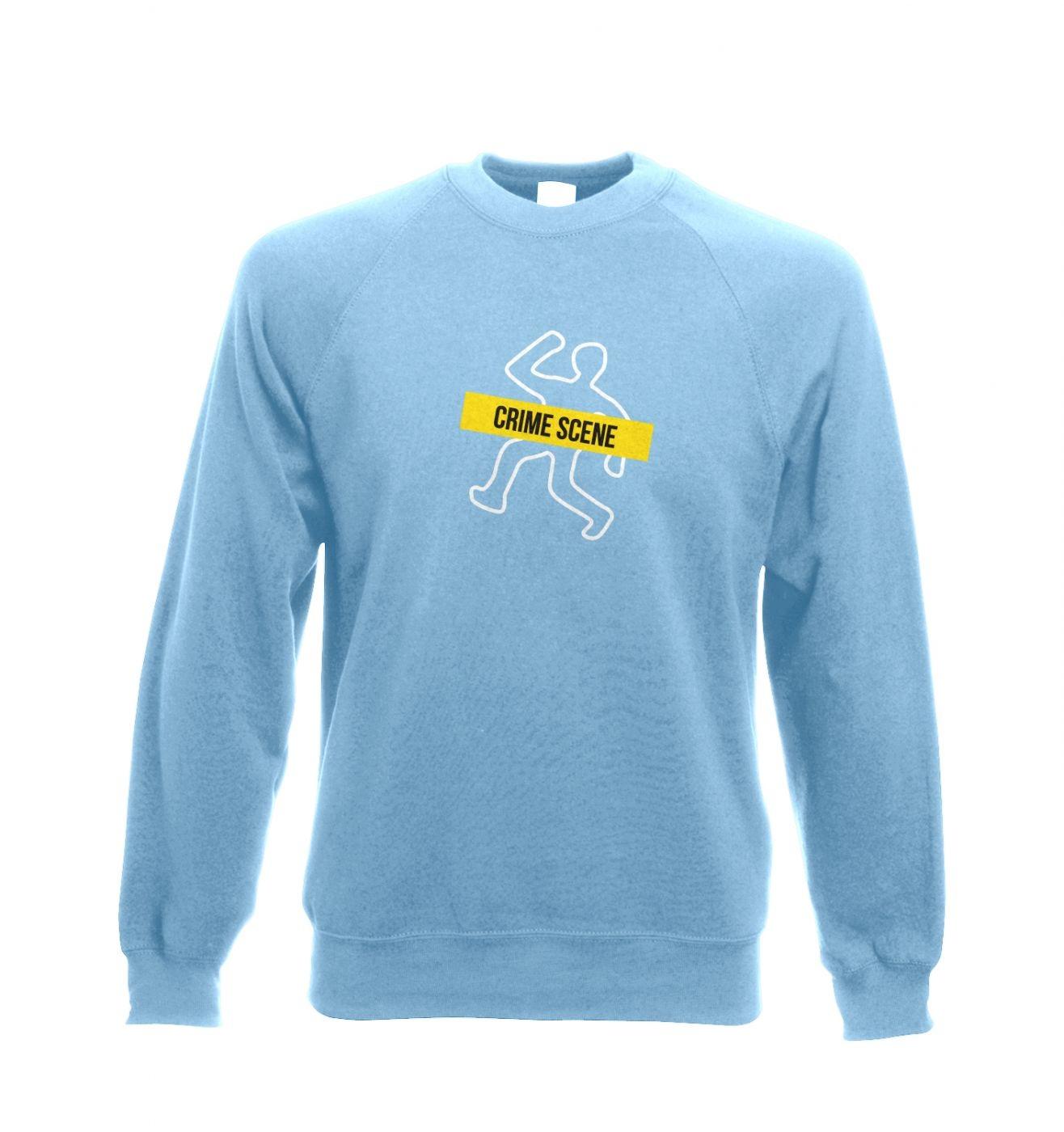 Crime Scene Adult Crewneck Sweatshirt