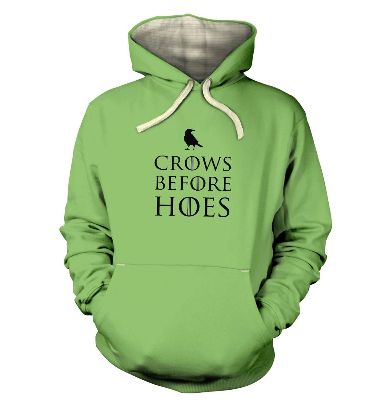 Crows Before Hoes premium  hoodie (premium)