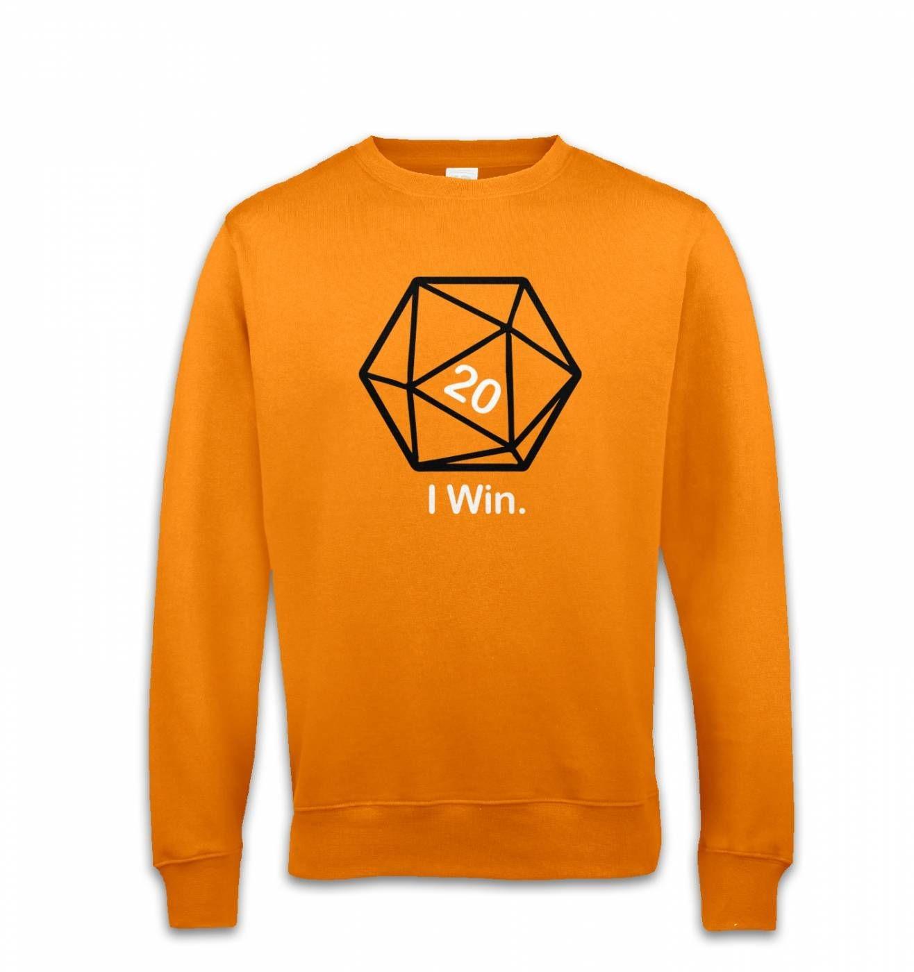 D20 I Win sweatshirt