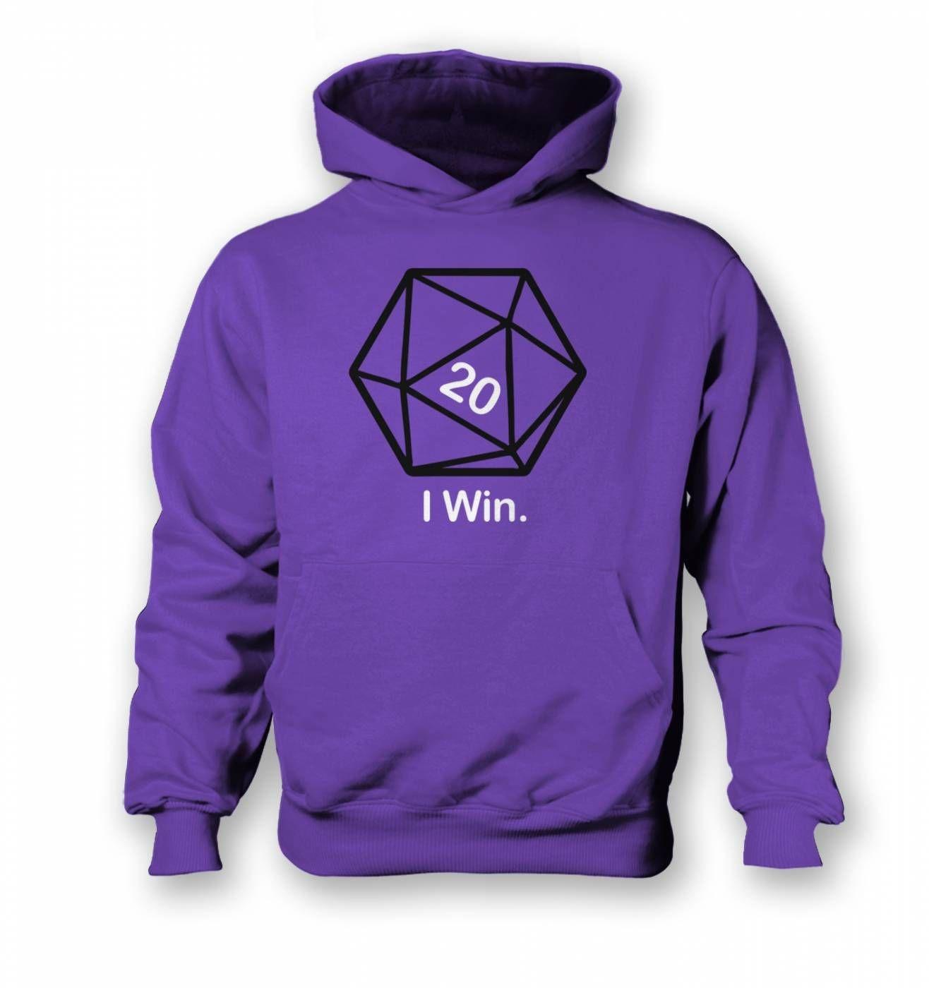 D20 I Win kids' hoodie