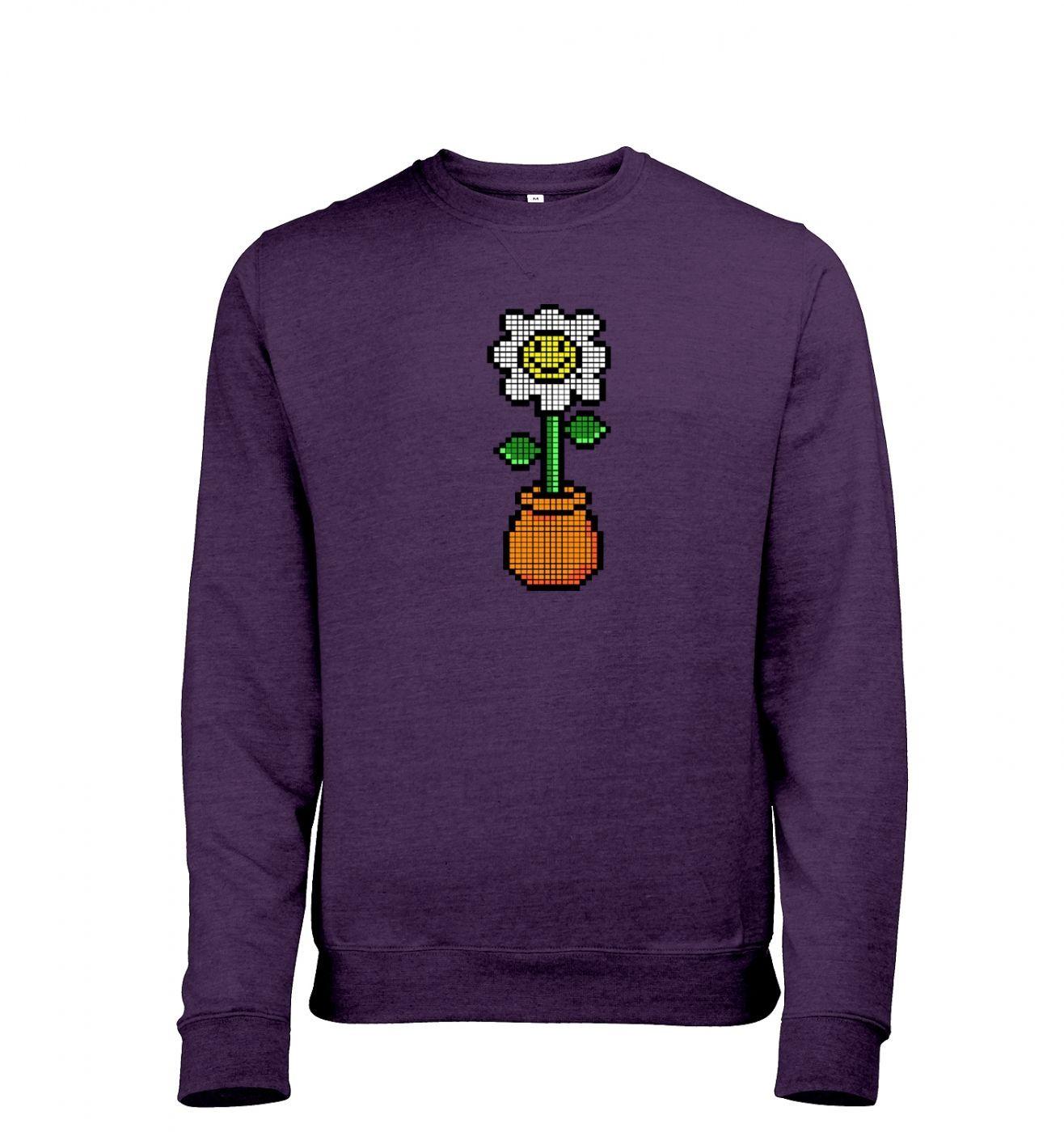 8-Bit Daisy men's heather sweatshirt
