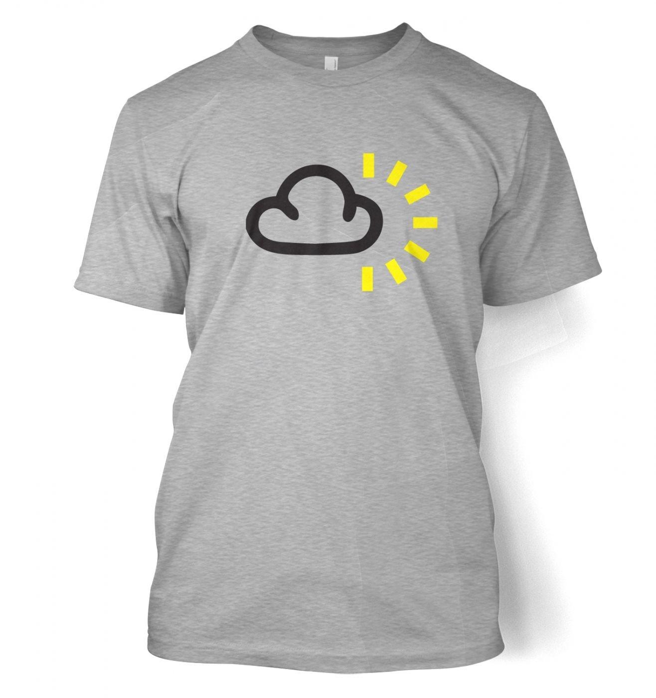 Weather Symbol Dark Clouds with Sun t-shirt