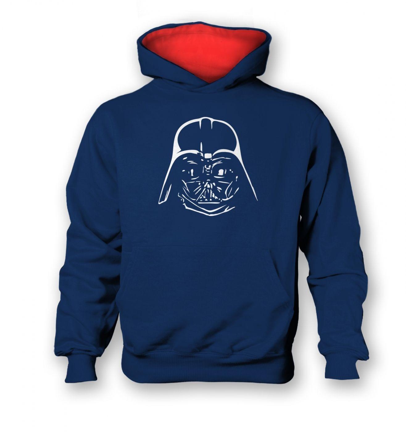 Dark Lord Helmet kids contrast hoodie  - Inspired by Star Wars