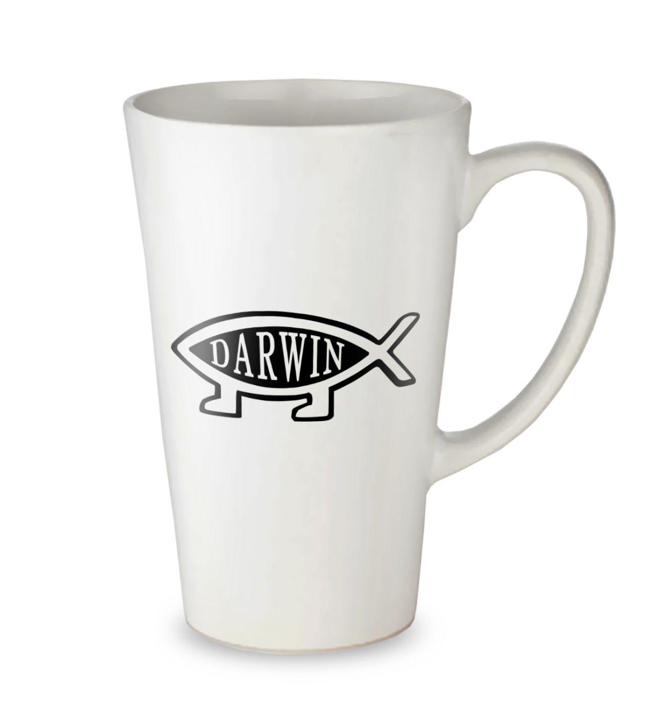 Darwin Ichthys tall latte mug