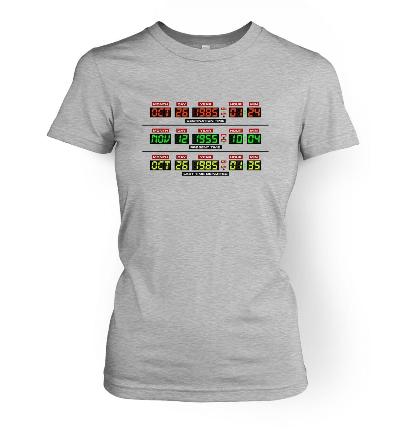 Delorean Dashboard women's t-shirt