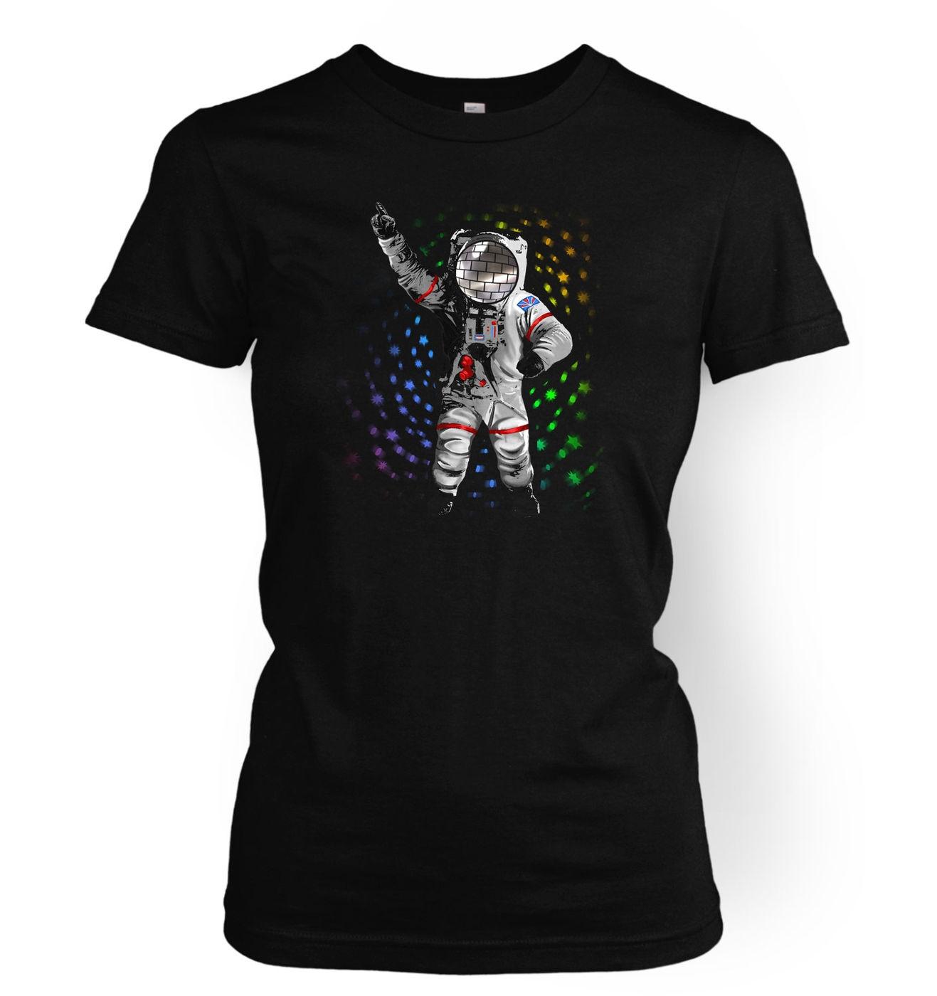 Disconaut dancing astronaut womens t shirt