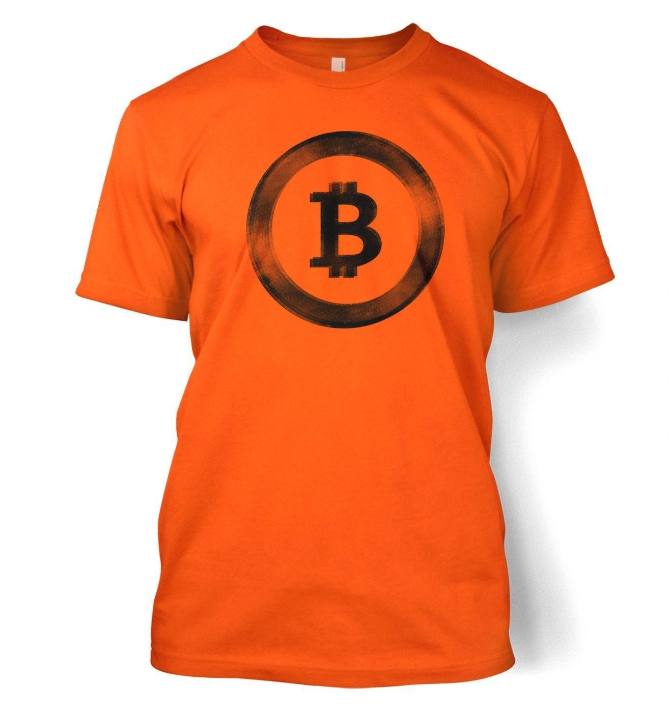 Distressed Bitcoin men's t-shirt