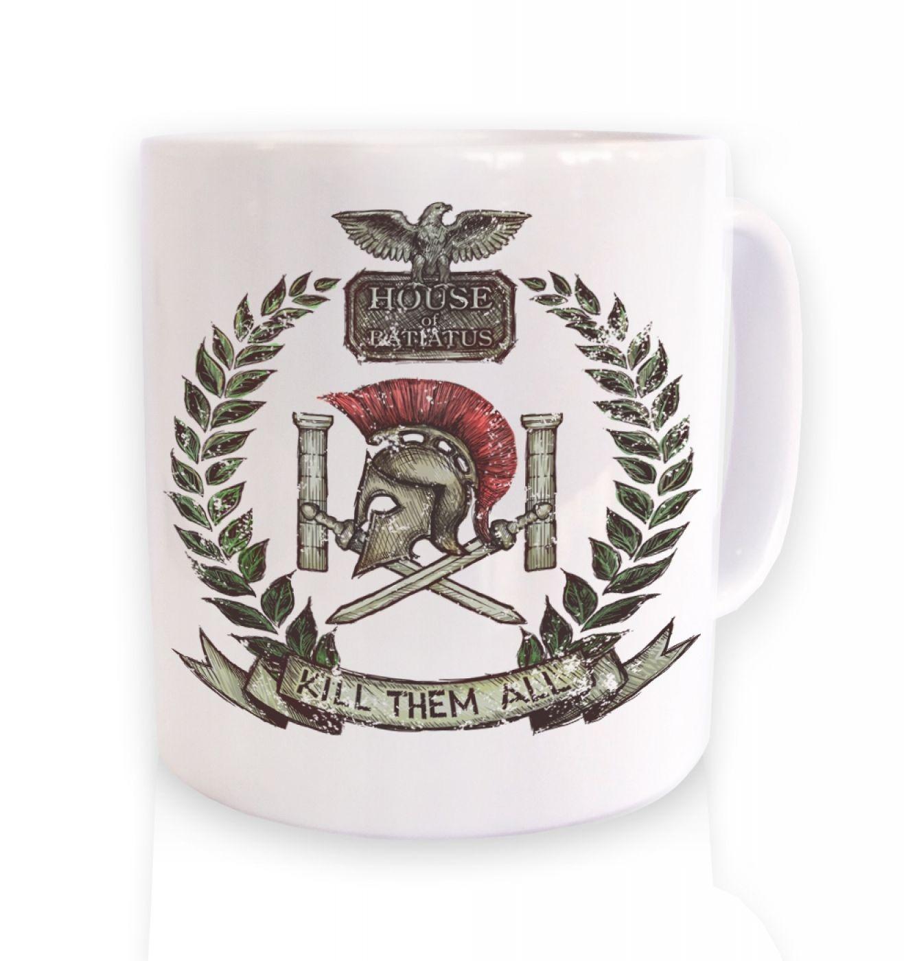 Distressed House Batiatus Crest coffee mug