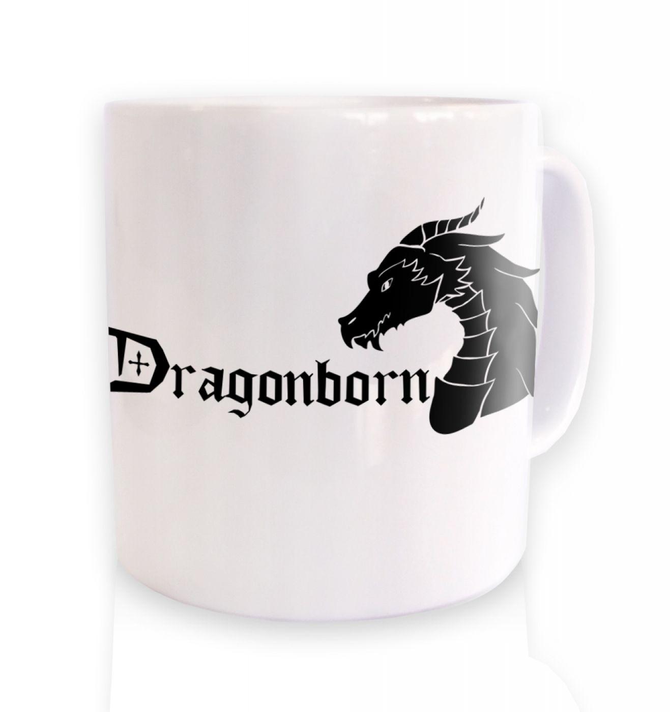 Dragonborn ceramic coffee mug