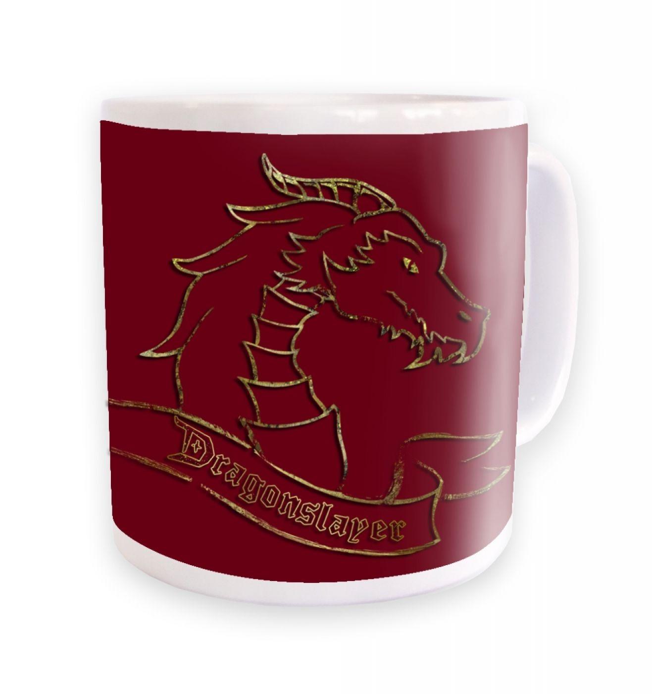 Gold Dragonslayer Ceramic Coffee Mug