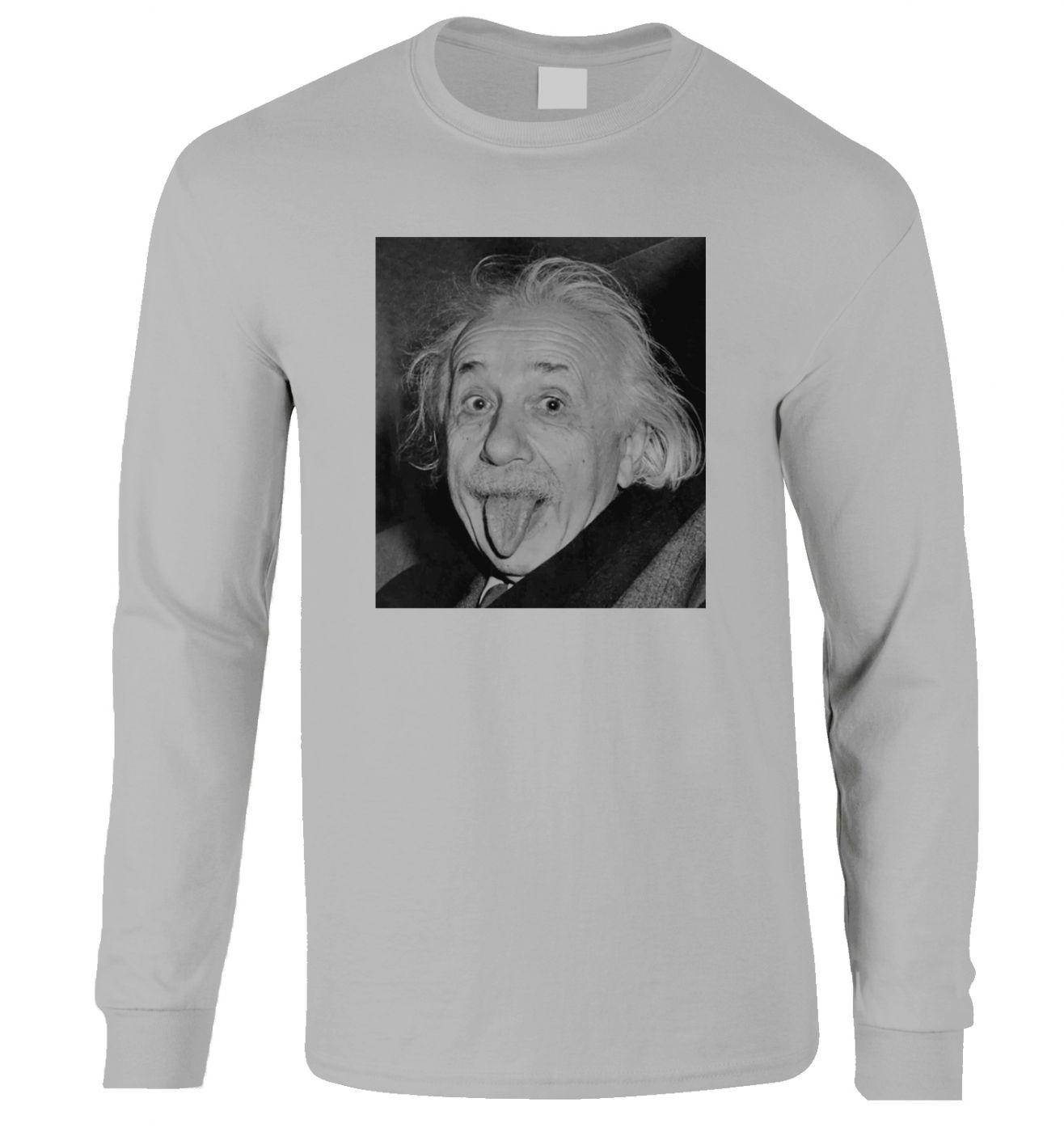 Einstein Tongue long-sleeved t-shirt