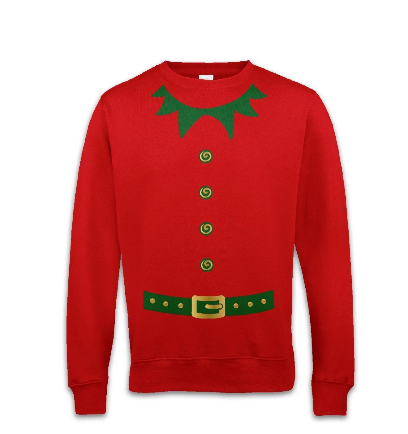 Elf costume (green detail)  sweatshirt