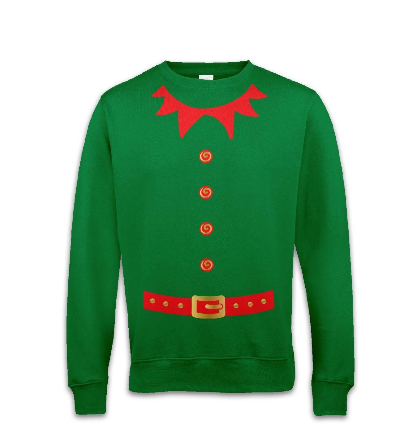 Elf costume (red detail)  sweatshirt