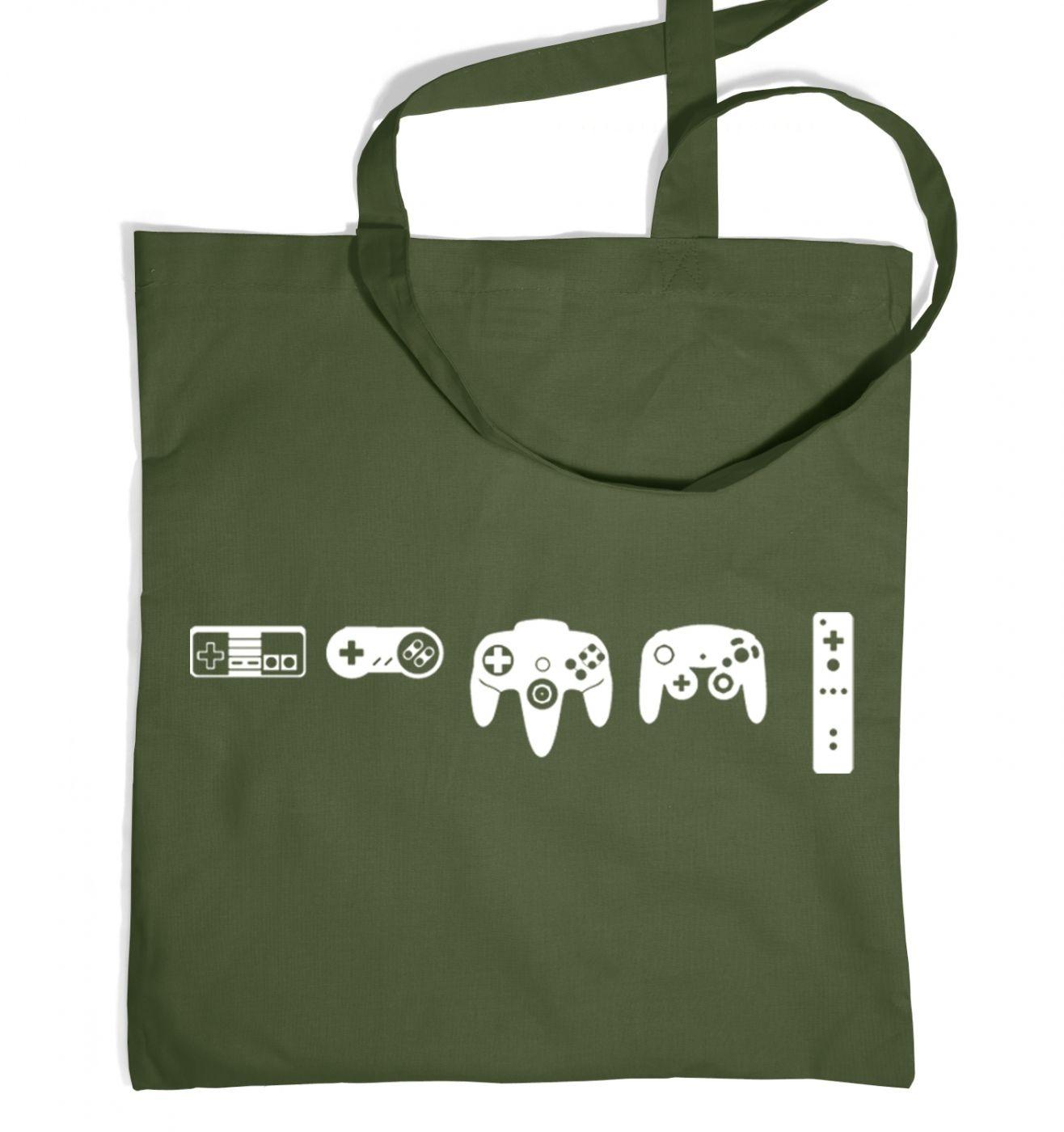 Evolution Of Nintendo tote bag