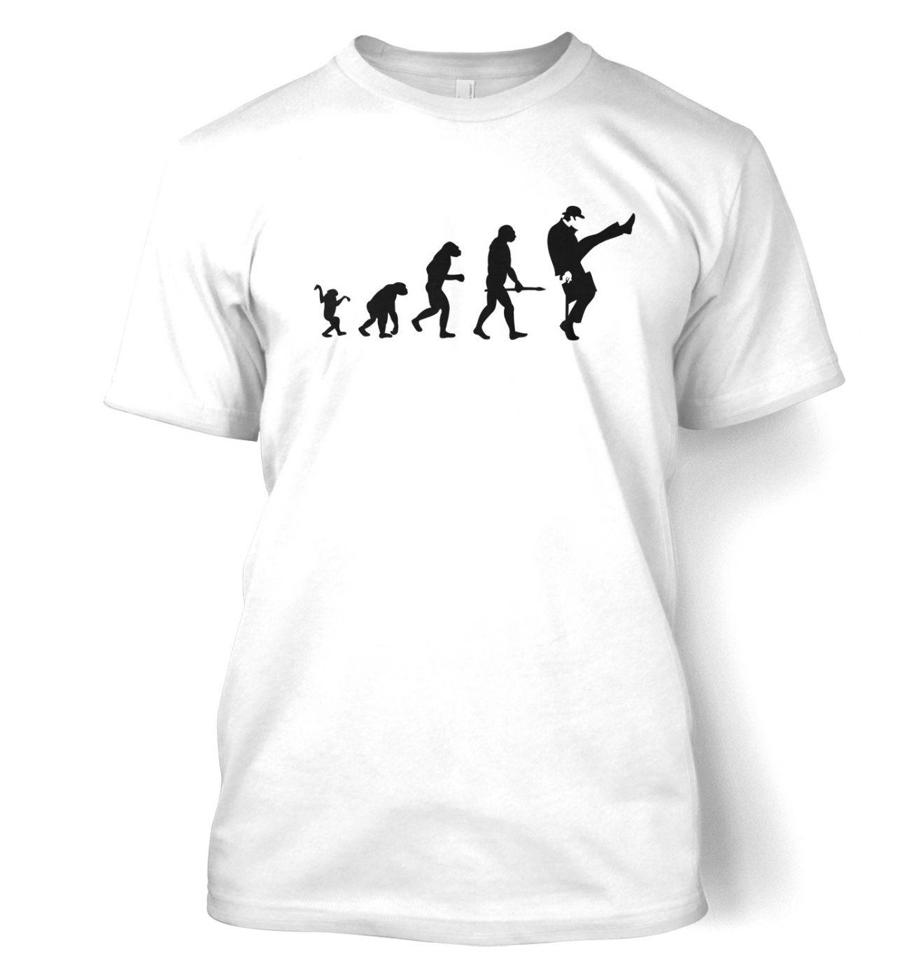 Evolution Of Silly Walks men's t-shirt