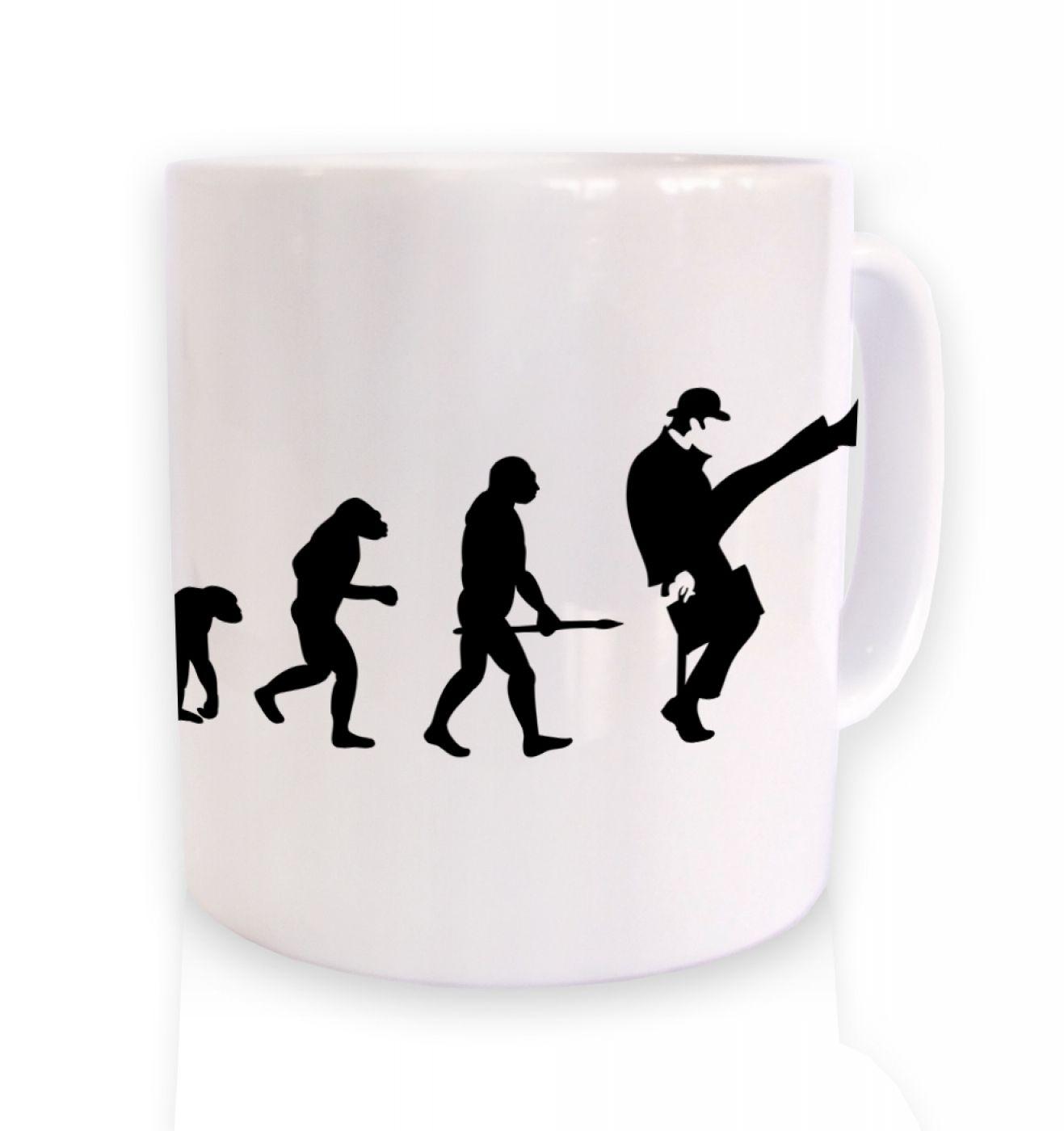 Evolution Of Silly Walks mug