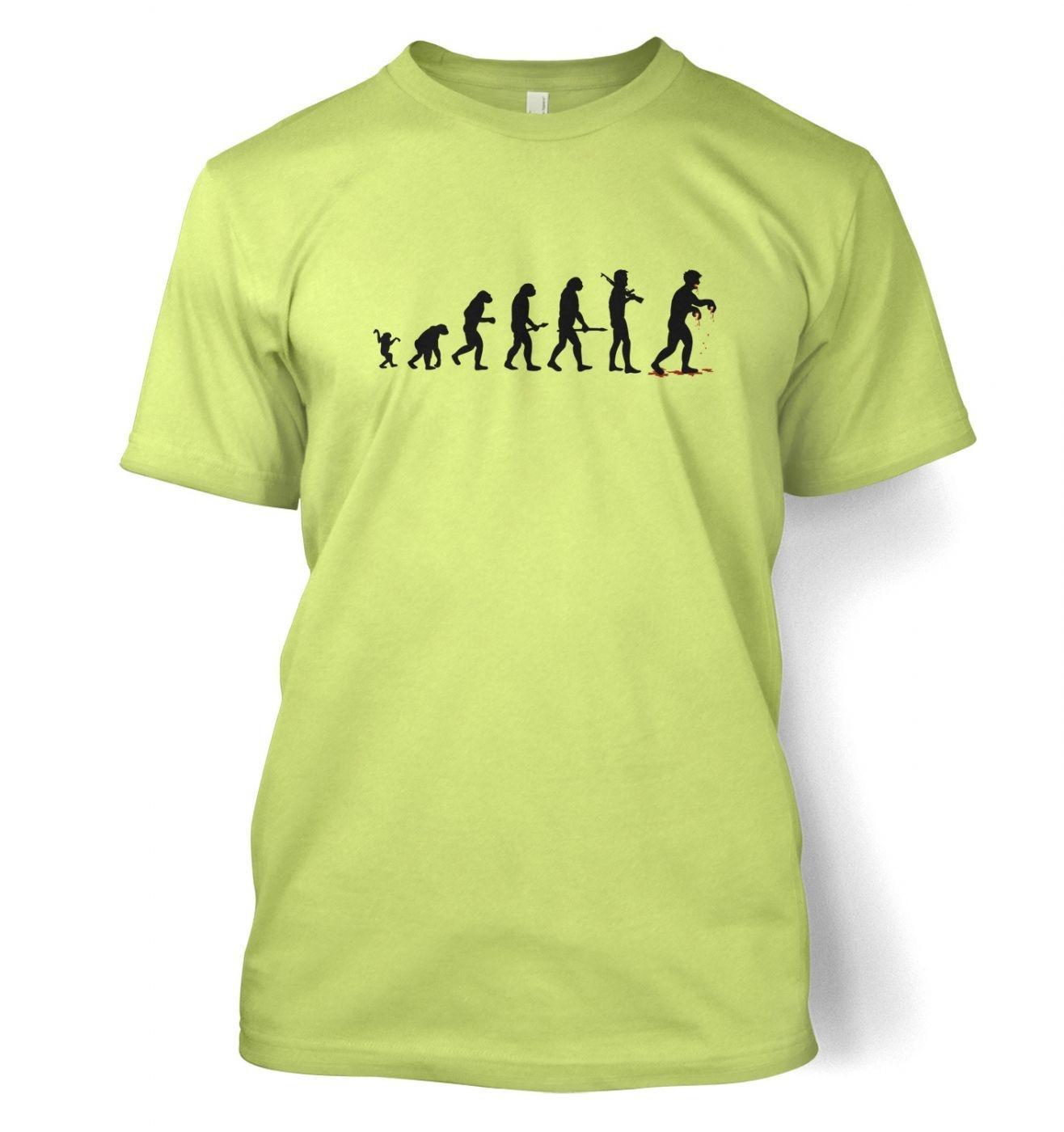 Evolution Of Zombies men's t-shirt