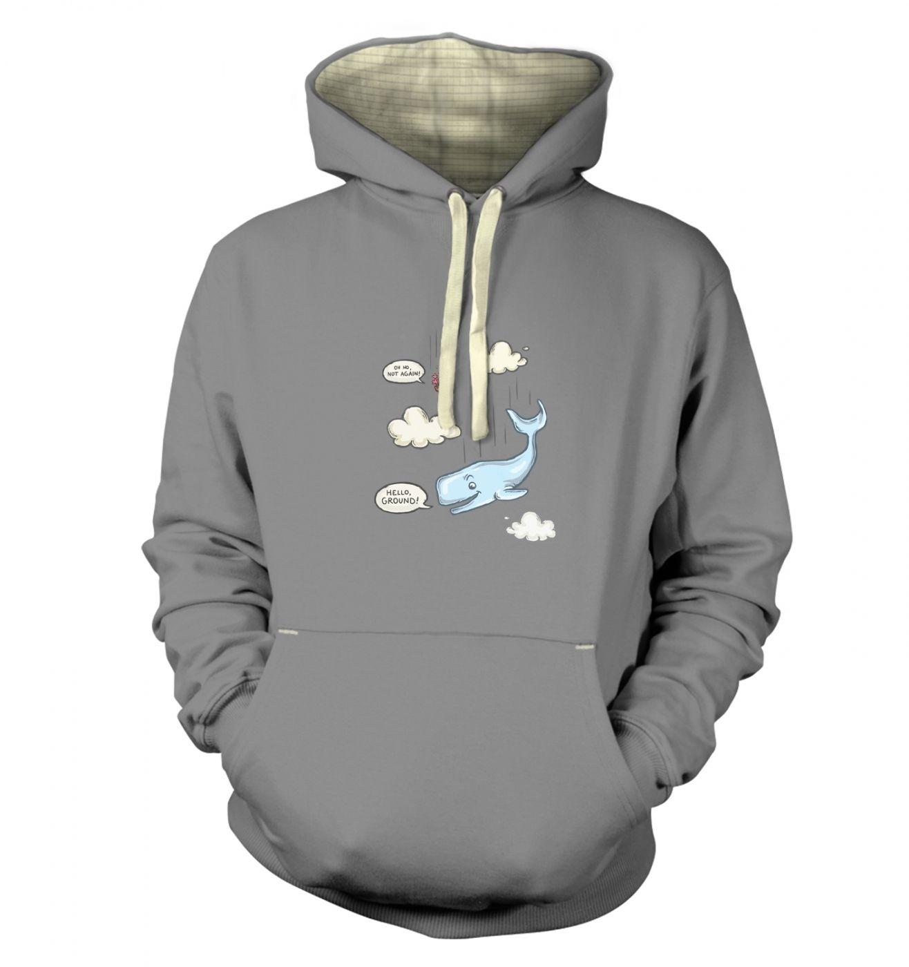 Falling Whale premium hoodie