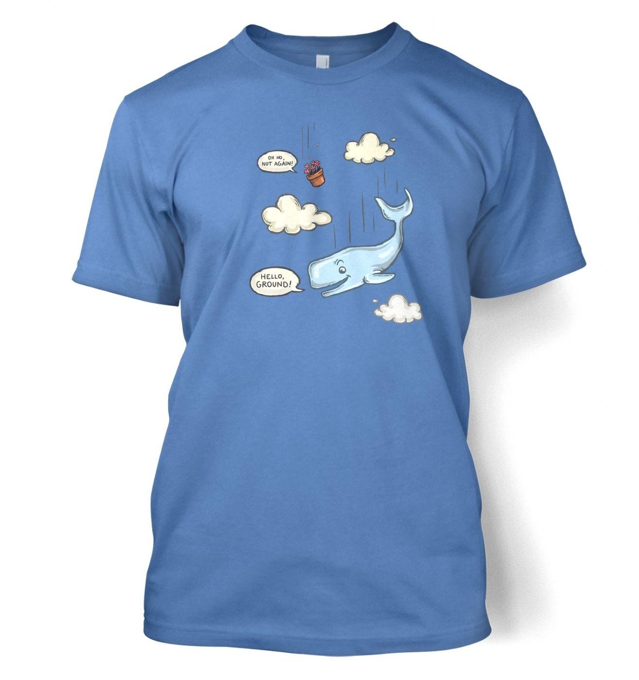 Falling Whale men's t-shirt
