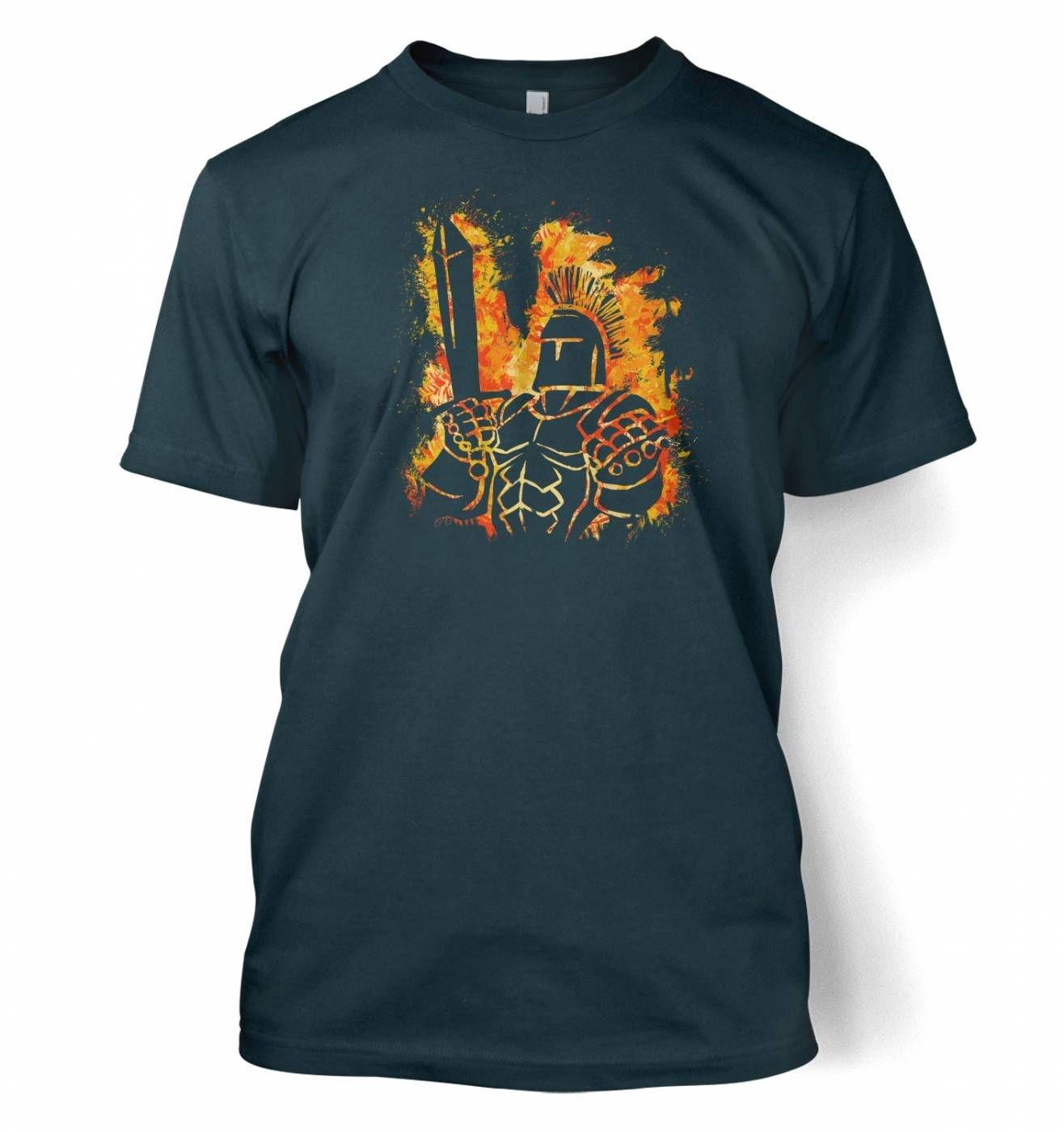 Fantasy RPG Fiery Knight t-shirt
