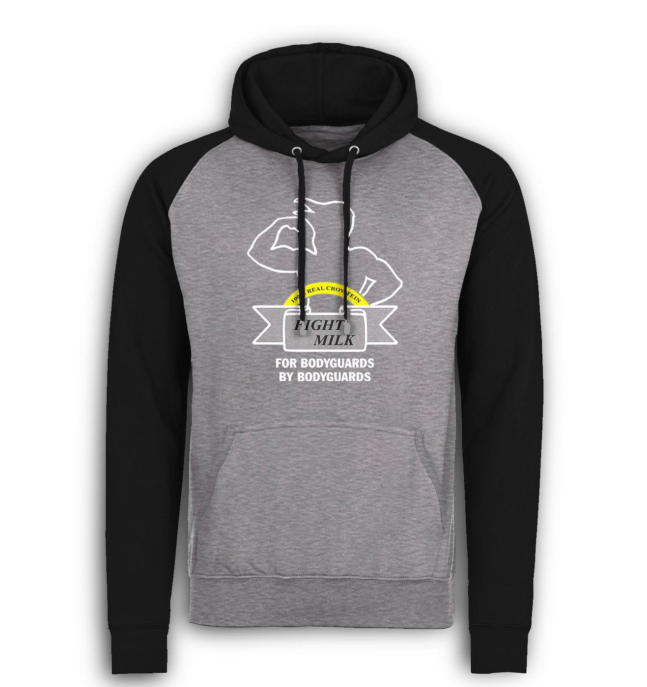 Fight Milk baseball hoodie by Something Geeky