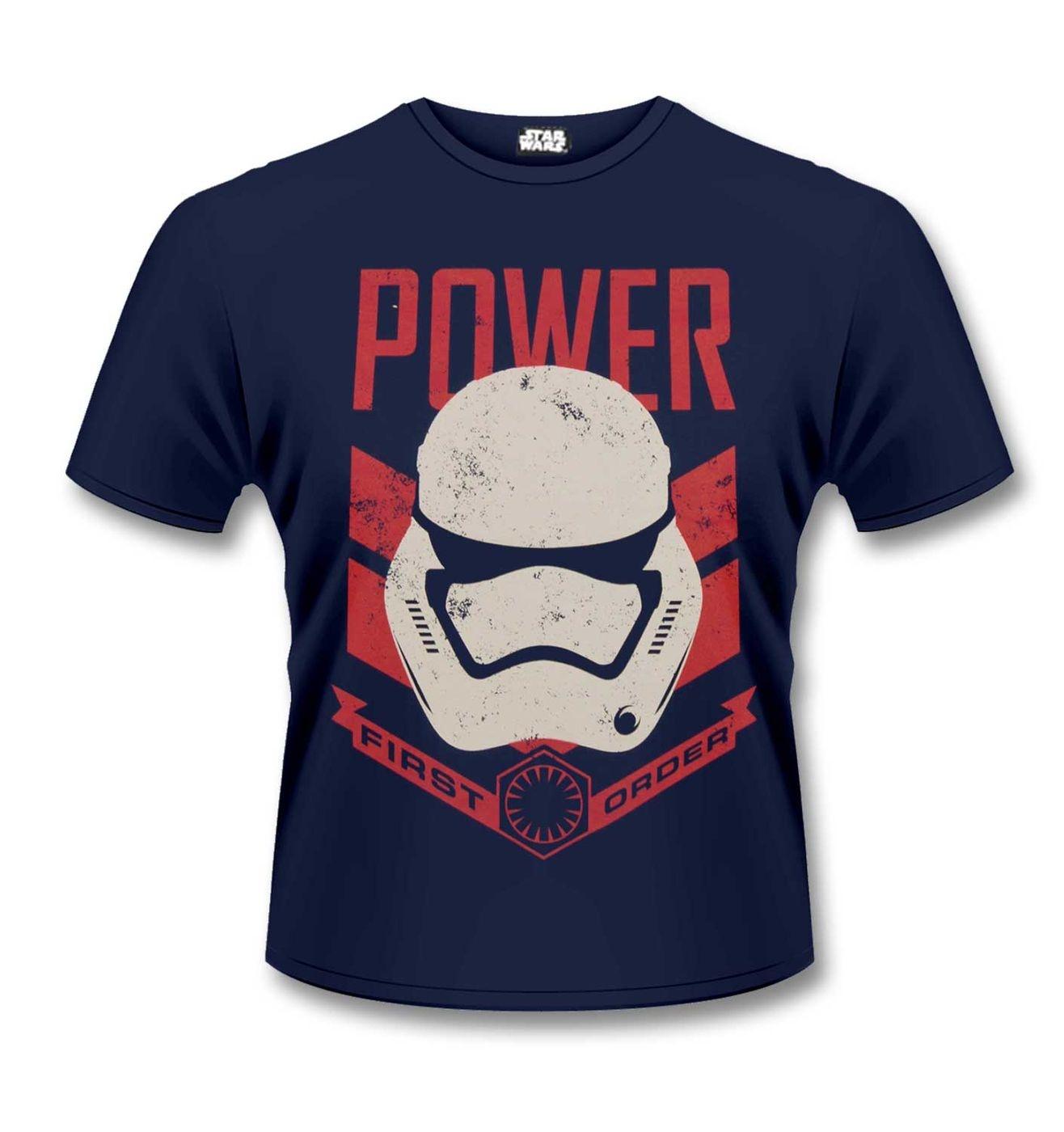 First Order Stormtrooper Power t-shirt. Official Star Wars merchandise