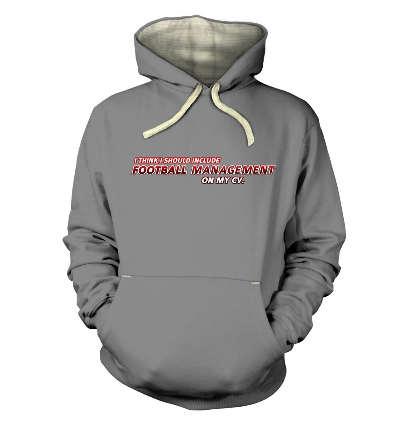 Football Management On CV premium hoodie