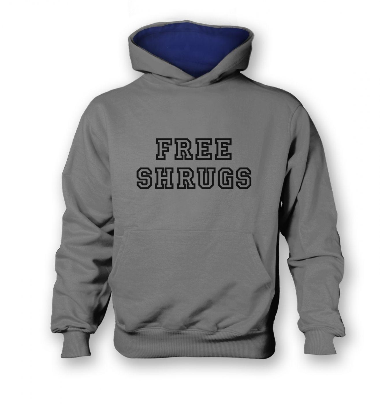 Free Shrugs kids' contrast hoodie