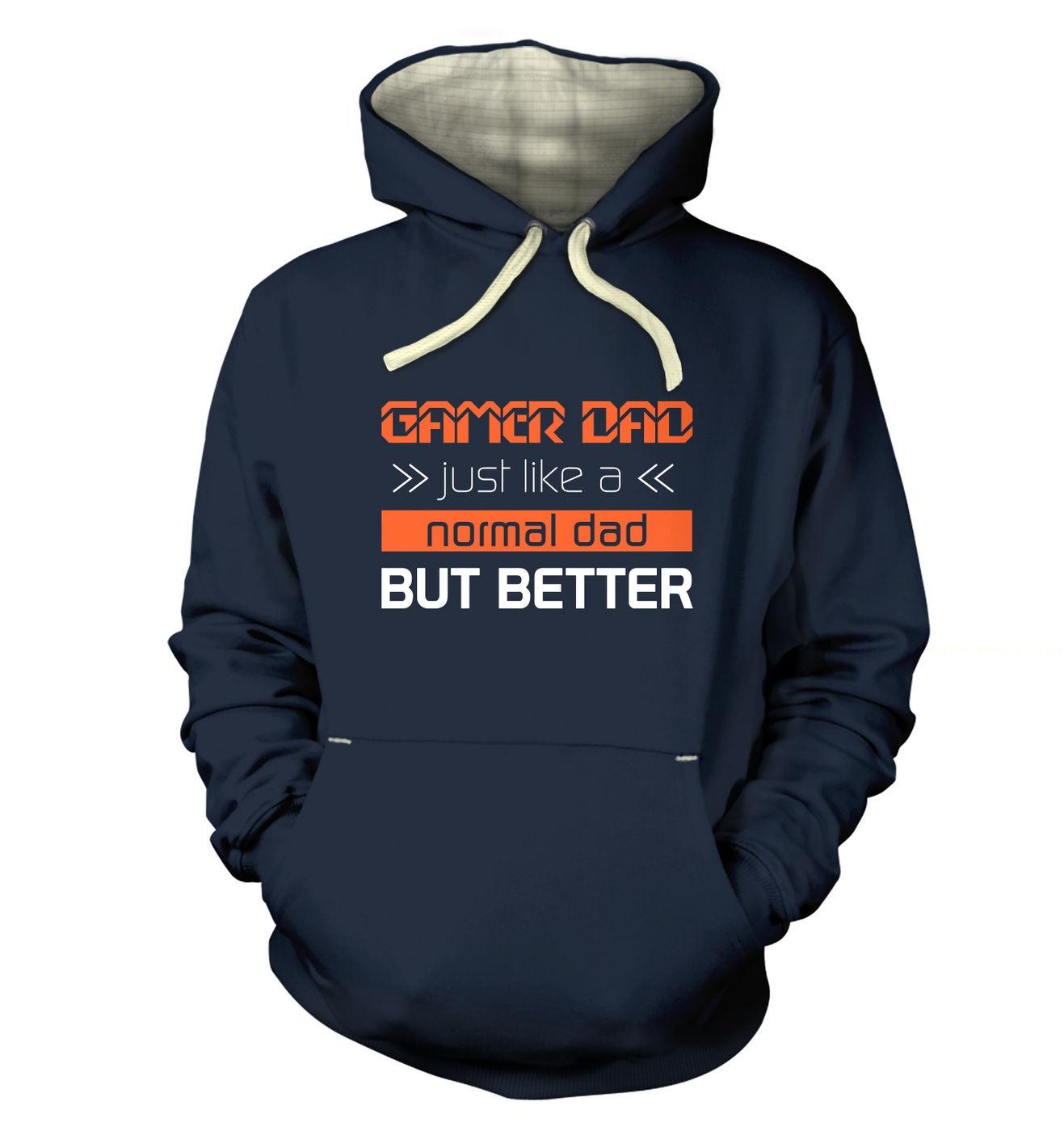 Gamer Dad slogan gaming premium hoodie